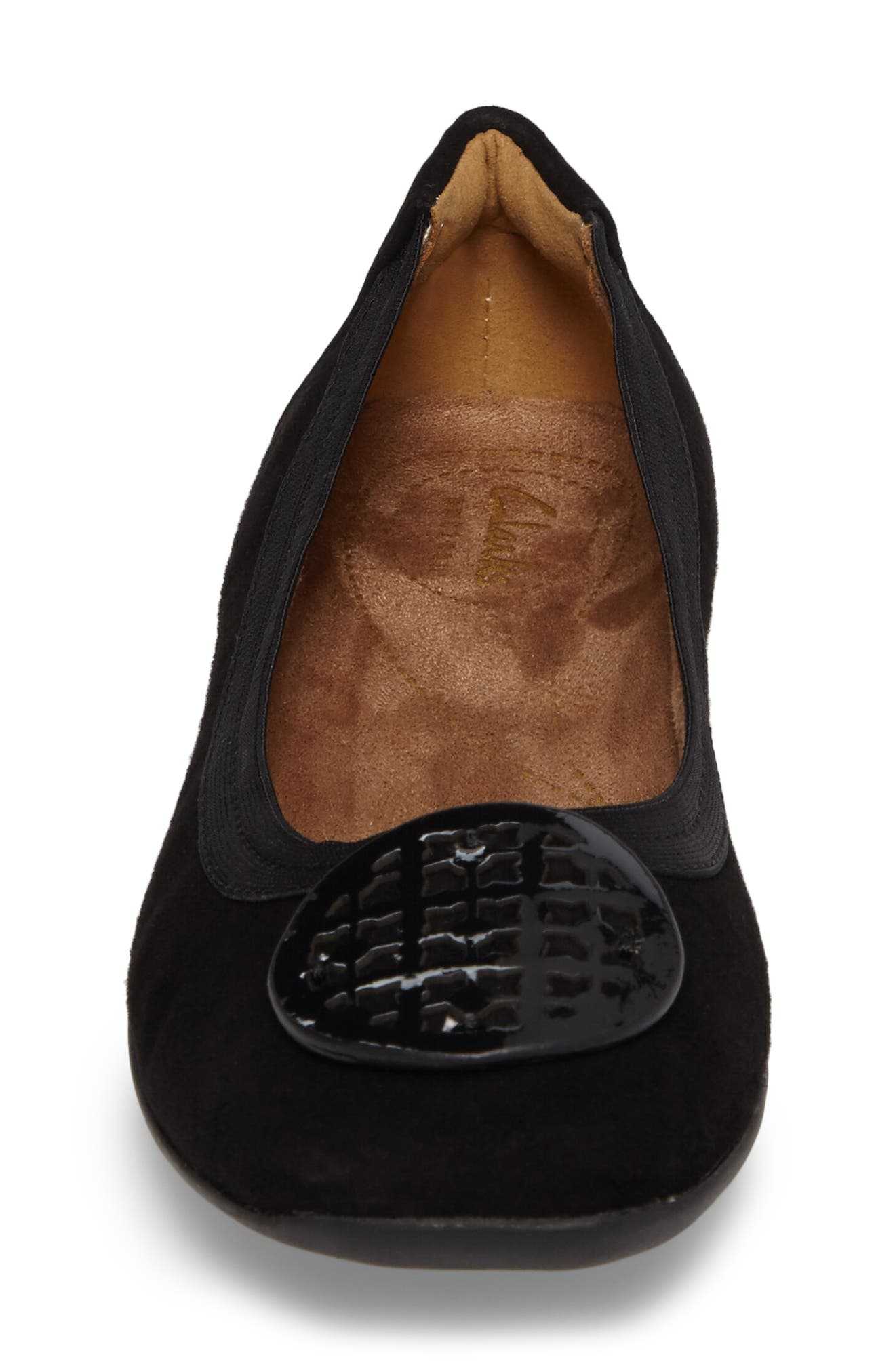 CLARKS<SUP>®</SUP>,                             'Candra Blush' Flat,                             Alternate thumbnail 4, color,                             001