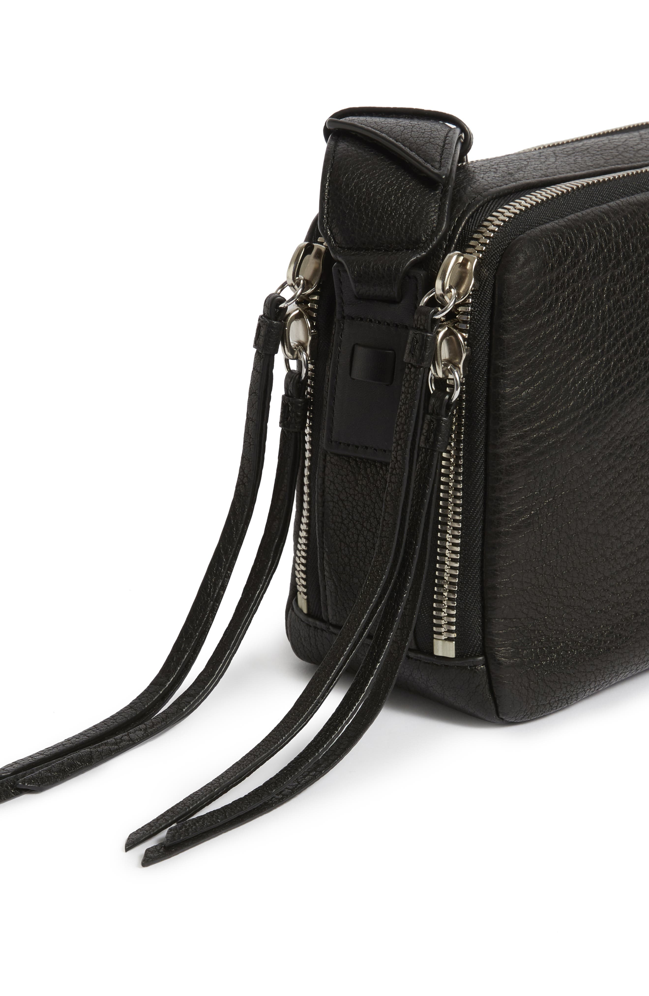 Vincent Leather Crossbody Bag,                             Alternate thumbnail 5, color,                             001