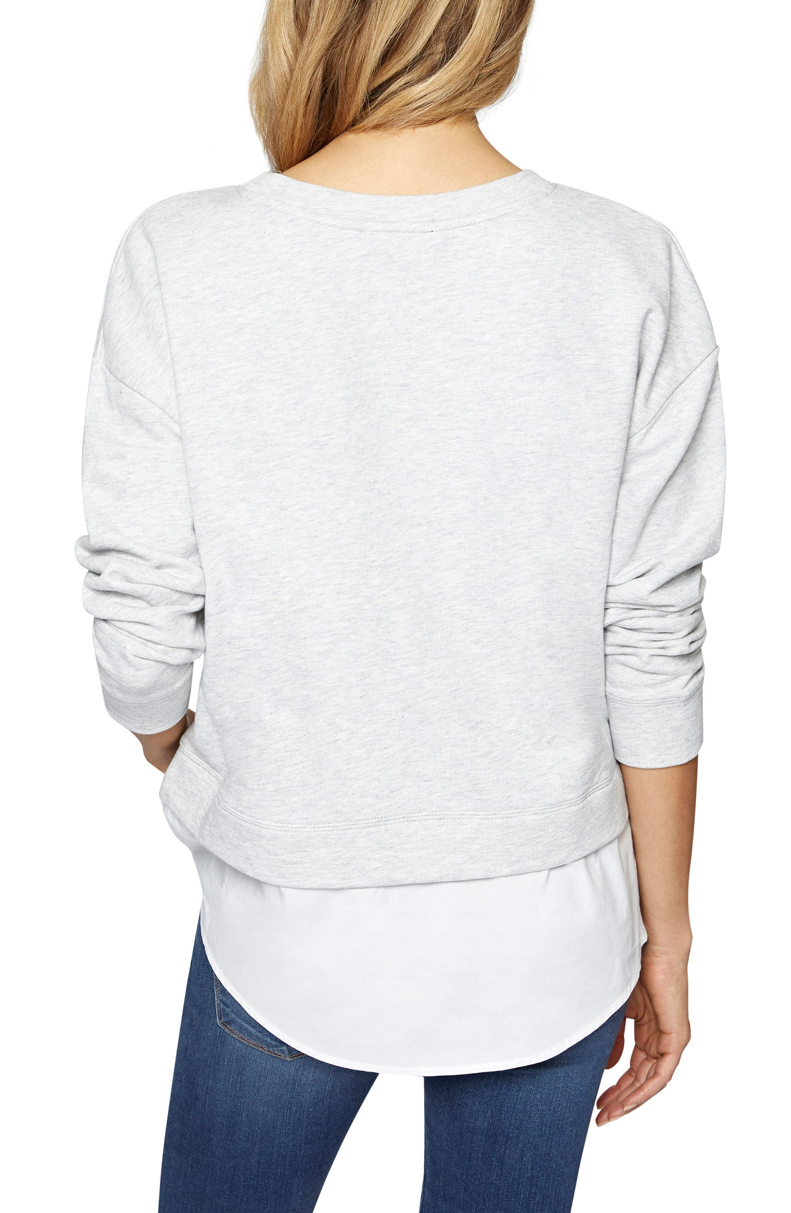 Ally Layered Look Sweatshirt,                             Alternate thumbnail 2, color,                             064