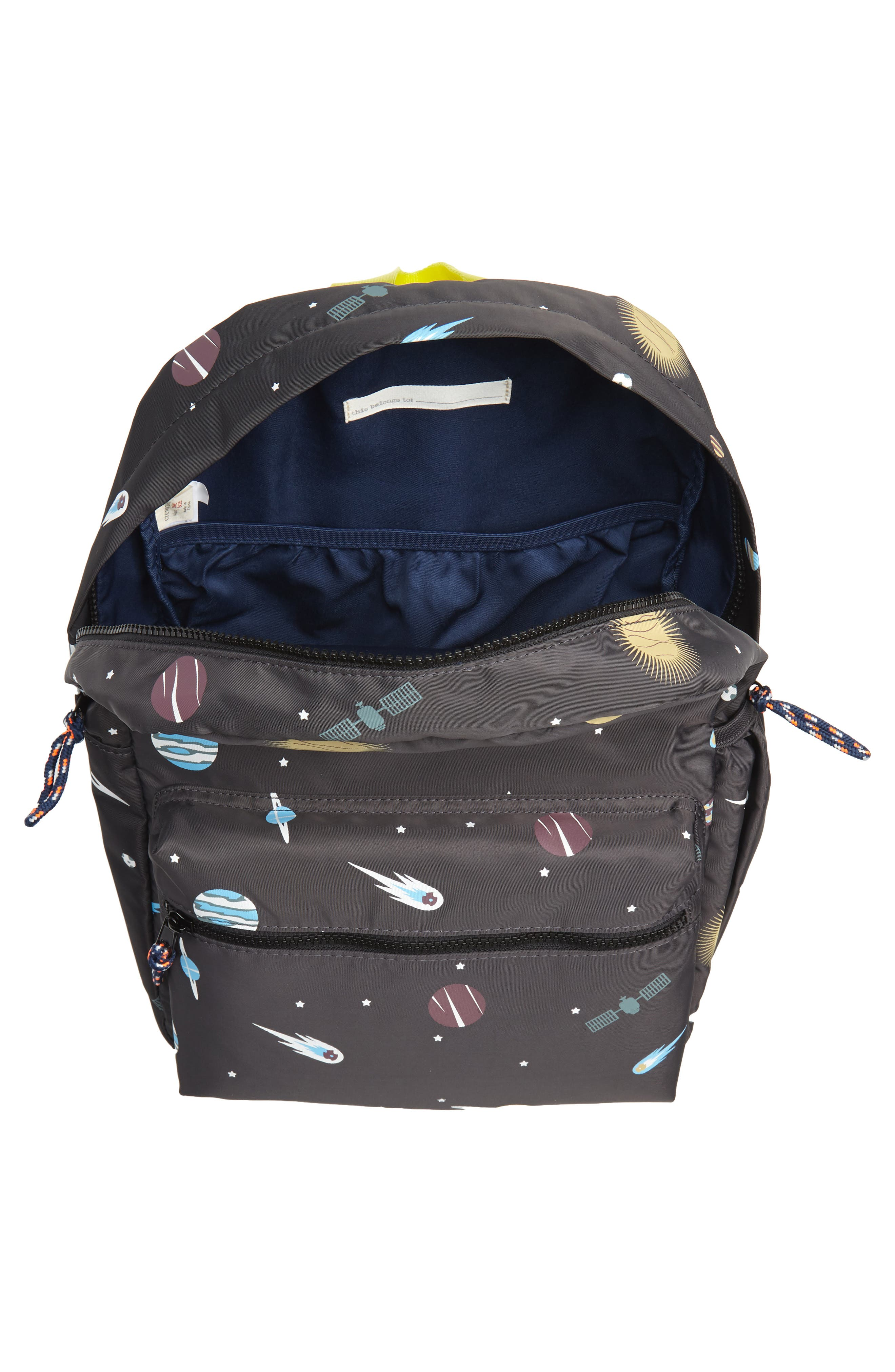 Glow in the Dark Space Print Backpack,                             Alternate thumbnail 3, color,