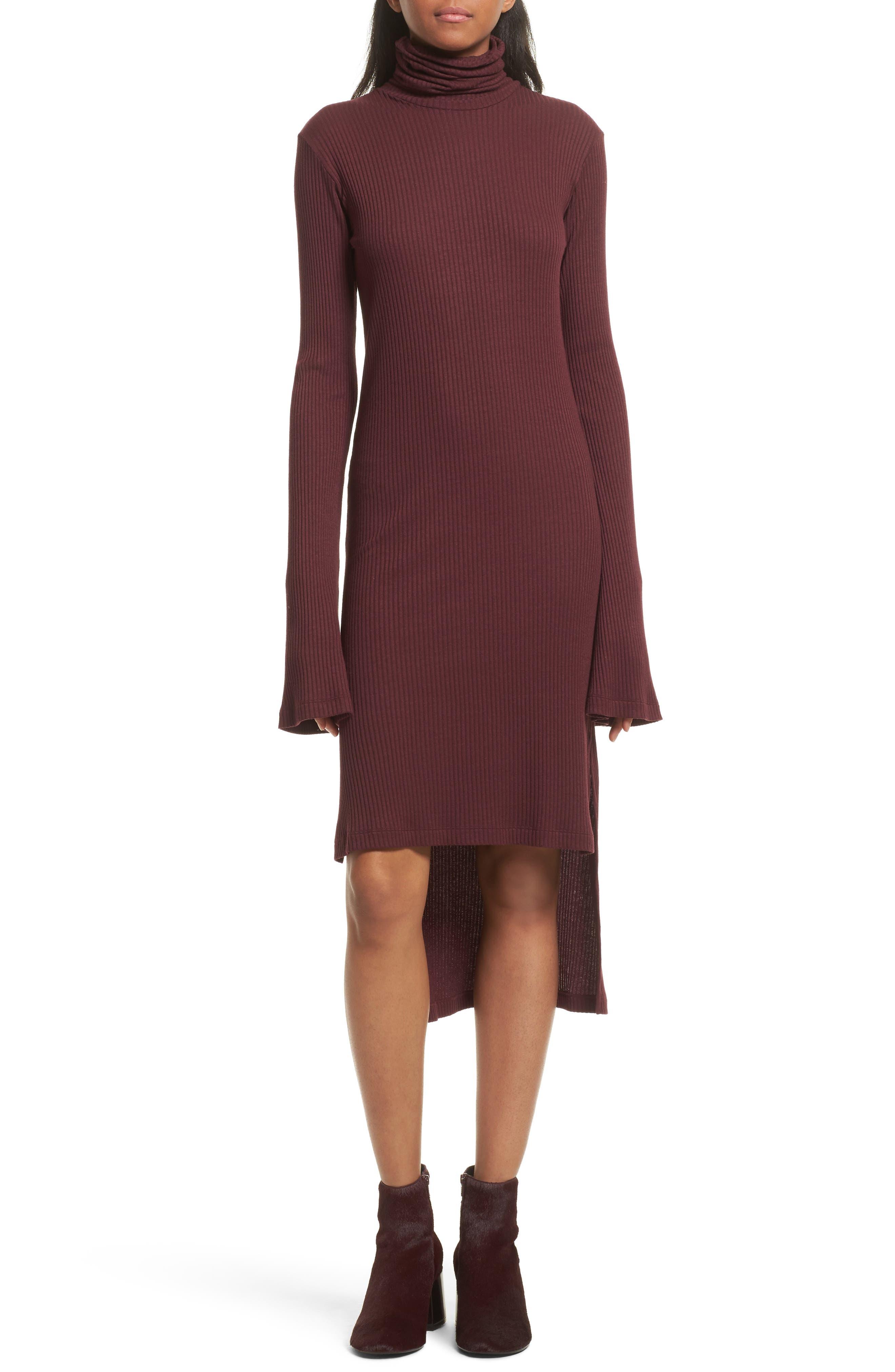 Step Hem Turtleneck Dress,                             Main thumbnail 1, color,                             931