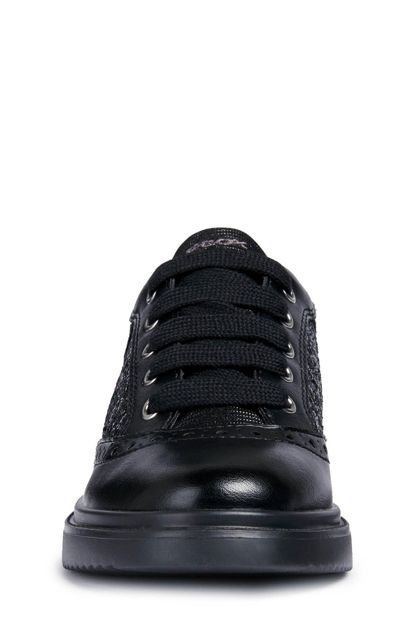 Thymar Sequin Sneaker,                             Alternate thumbnail 4, color,                             BLACK
