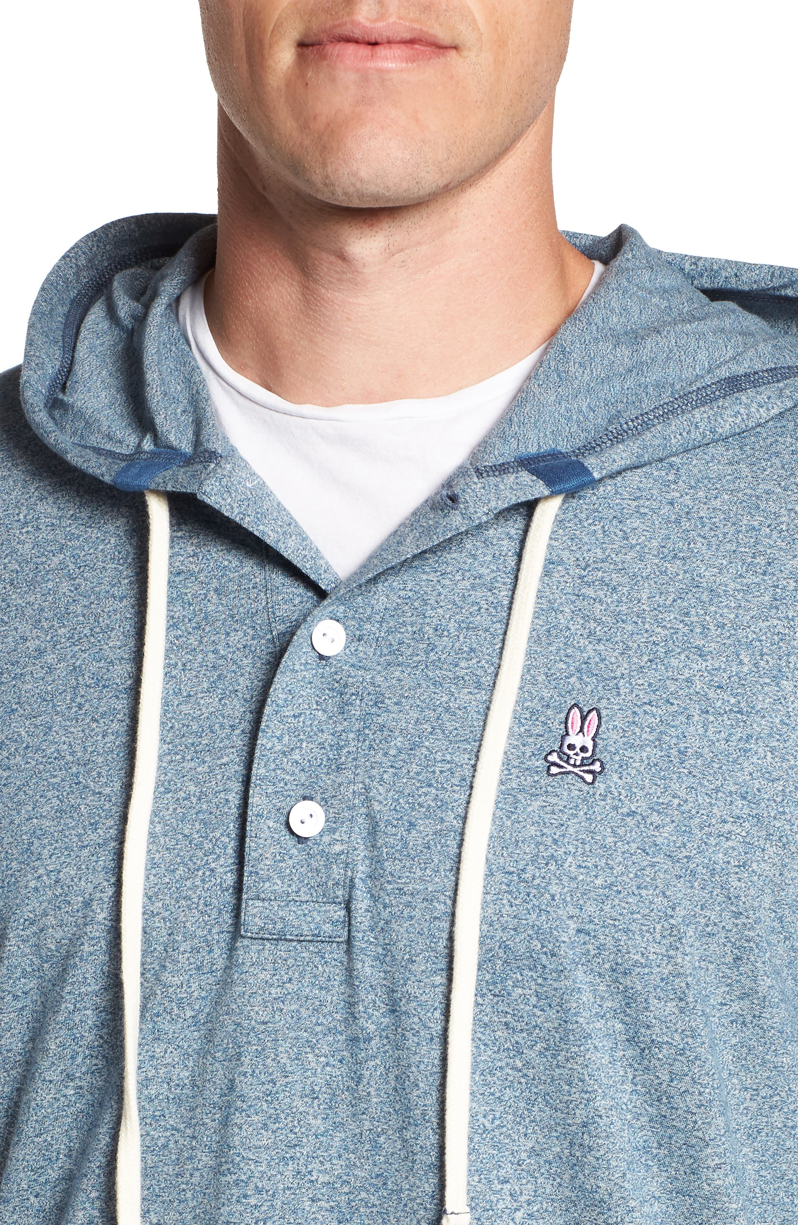Embroidered Henley Hoodie,                             Alternate thumbnail 4, color,                             400