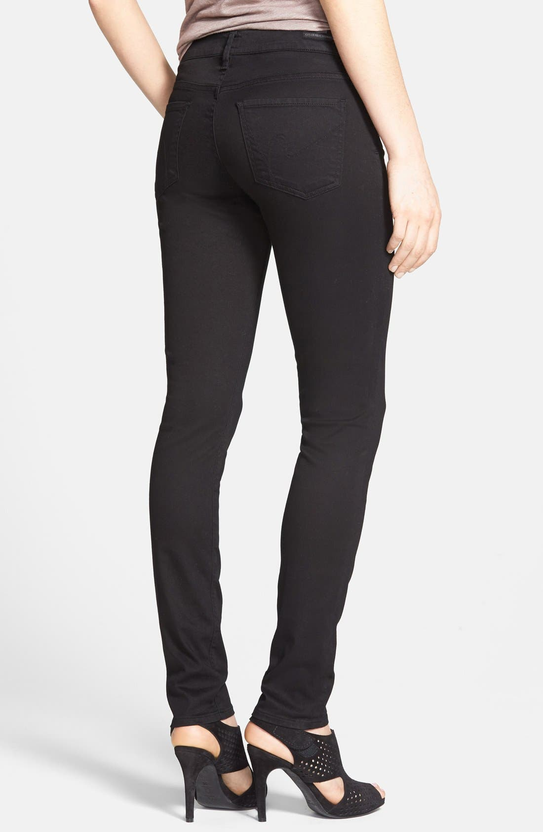 'Avedon' Ultra Skinny Jeans,                             Alternate thumbnail 4, color,                             001