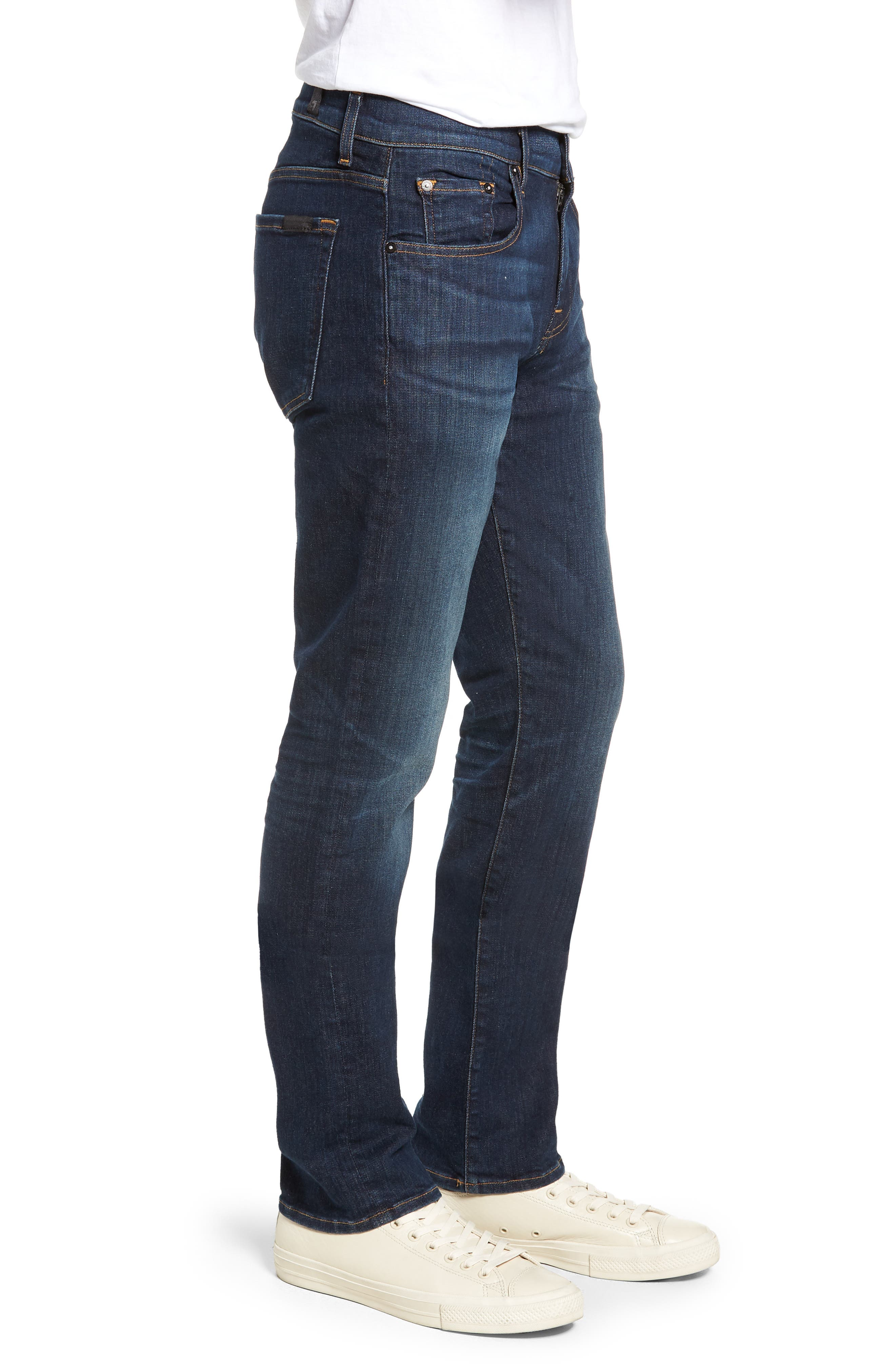 The Straight Luxe Sport Straight Leg Jeans,                             Alternate thumbnail 3, color,                             404