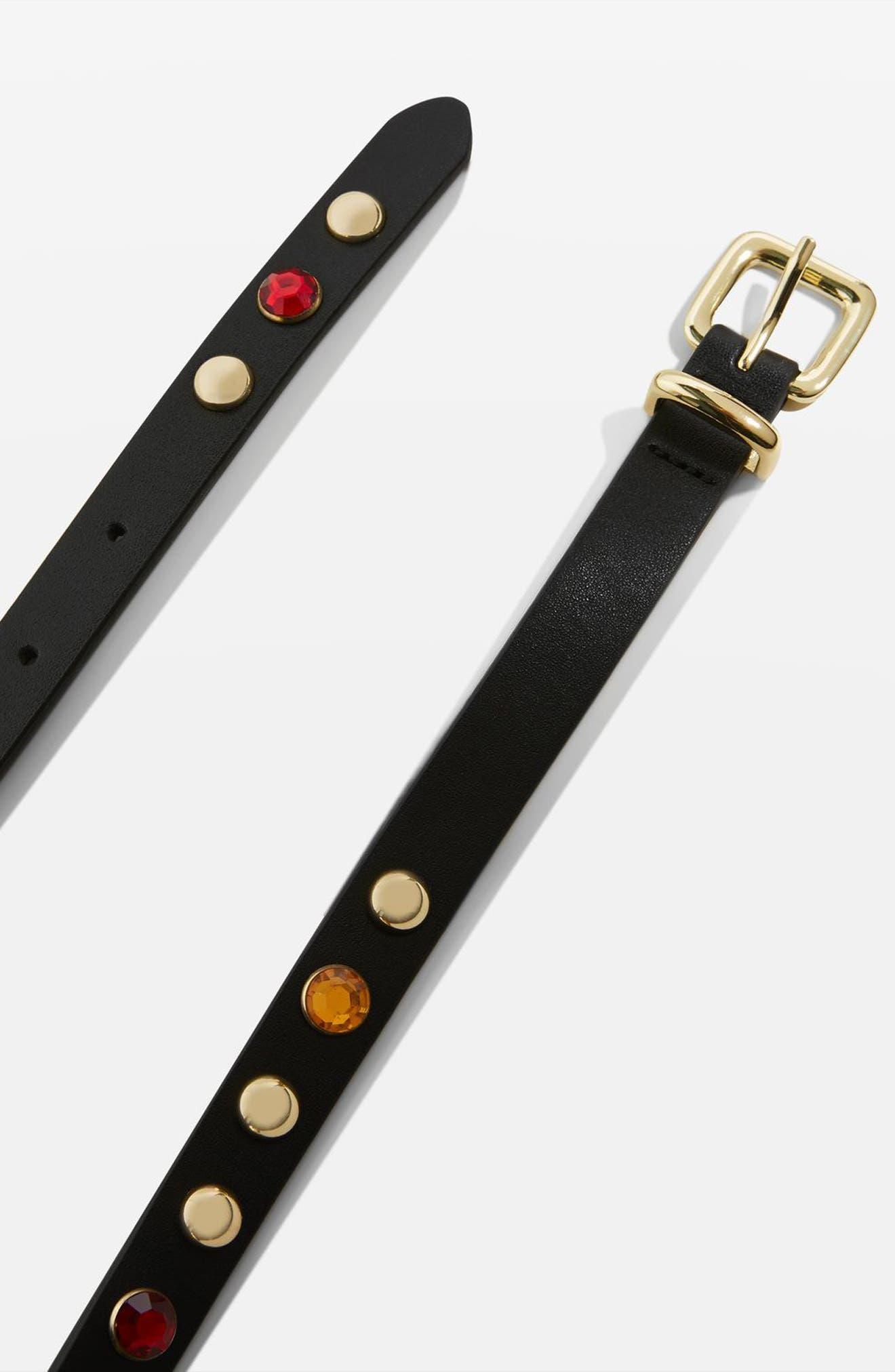 Jewel Studded Belt,                             Alternate thumbnail 3, color,