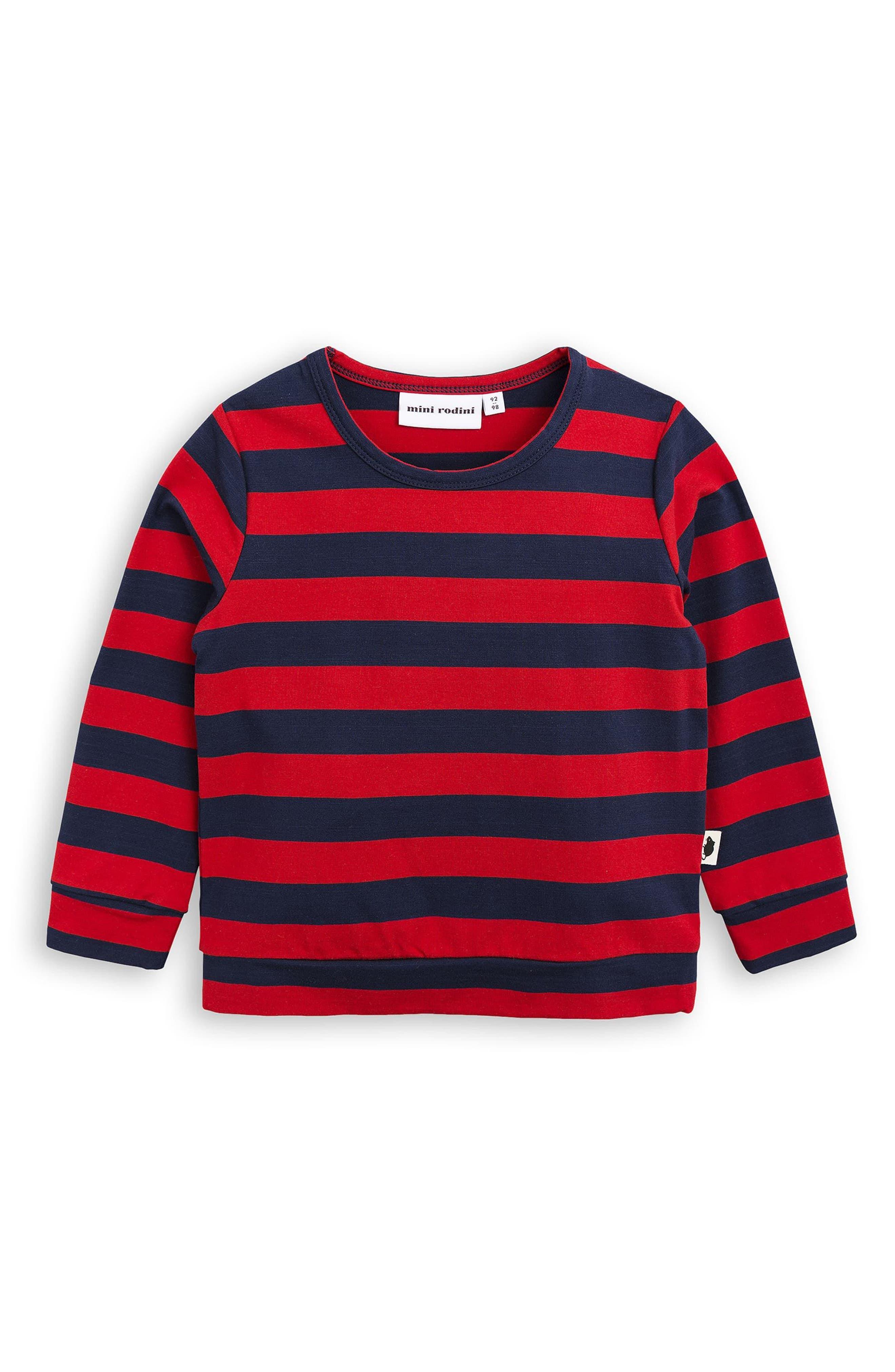 Stripe T-Shirt,                             Alternate thumbnail 3, color,                             600