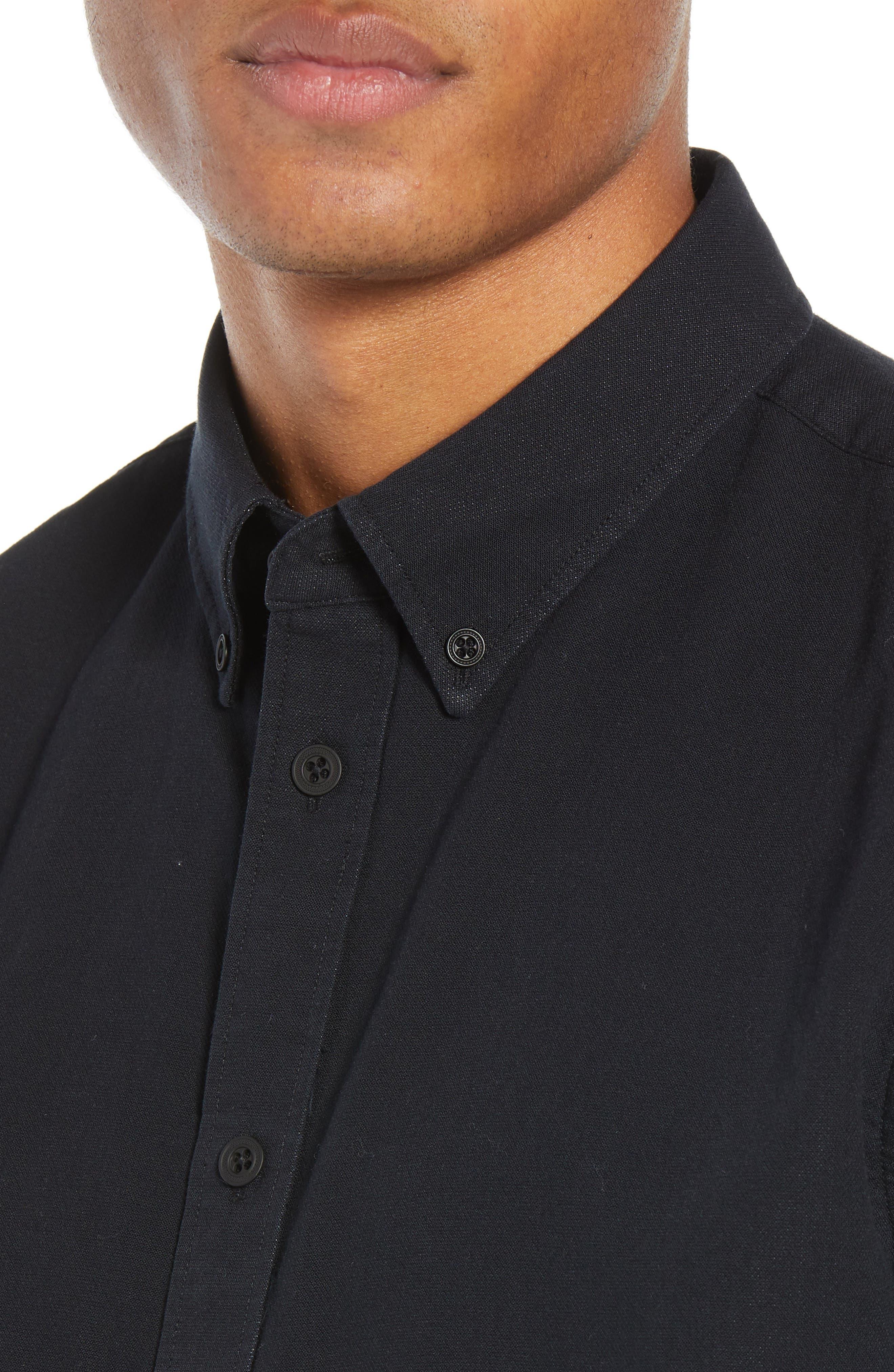 Fit 2 Slim Tomlin Sport Shirt,                             Alternate thumbnail 2, color,                             BLACK/ WHITE