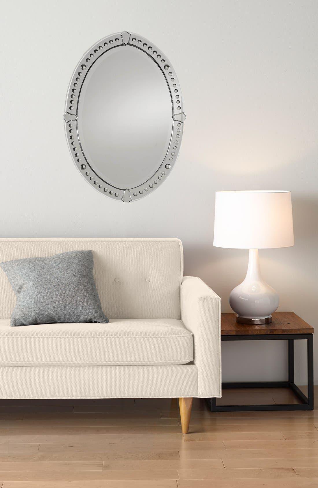 'Graziano' Frameless Oval Mirror,                             Alternate thumbnail 4, color,                             200