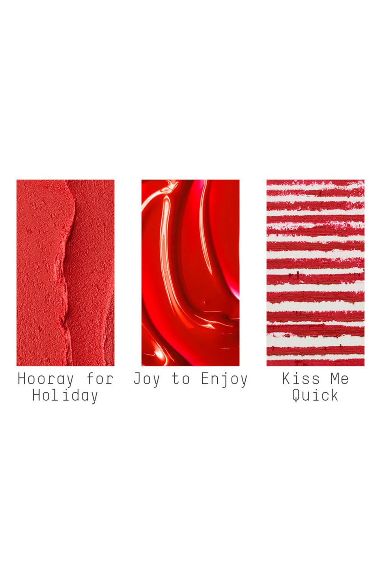 MAC Snow Ball Red Lip Bag,                             Alternate thumbnail 4, color,                             600