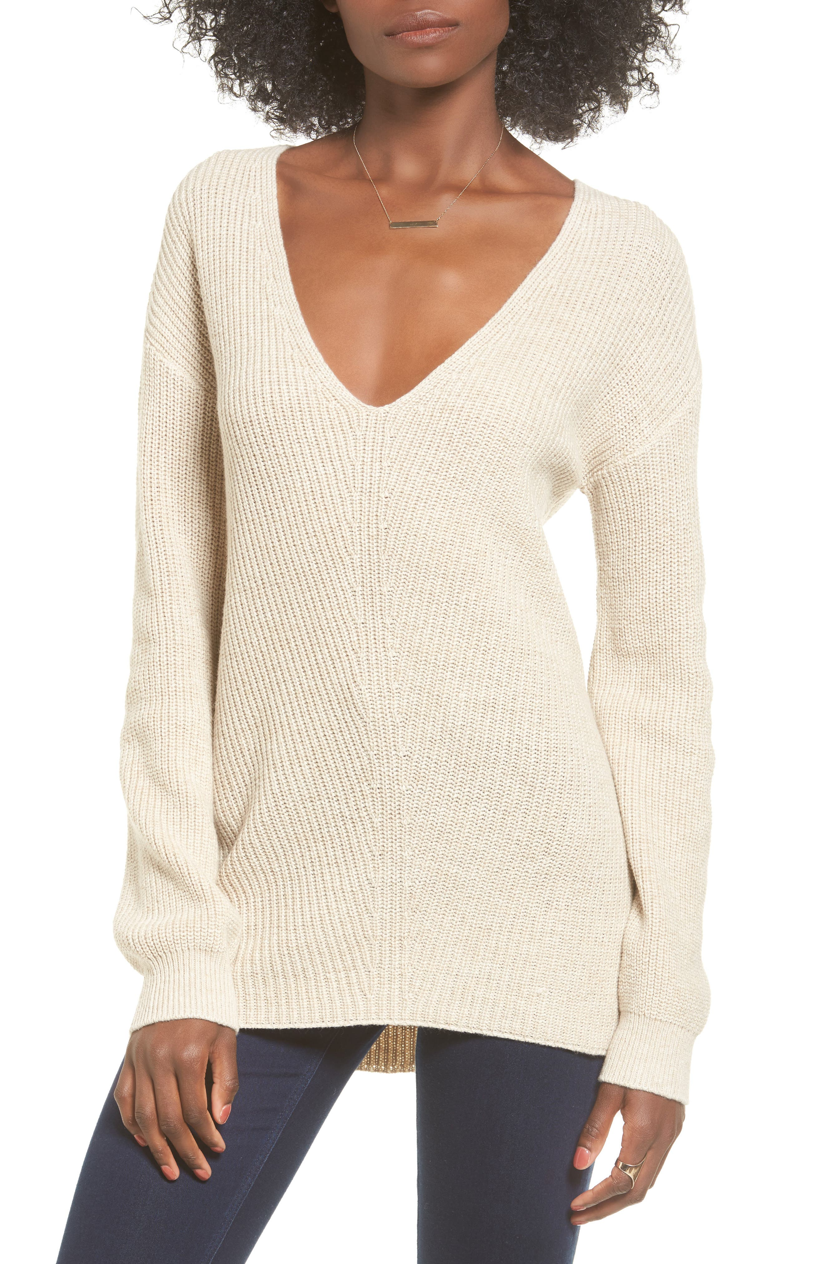 V-Neck Sweater,                             Main thumbnail 3, color,