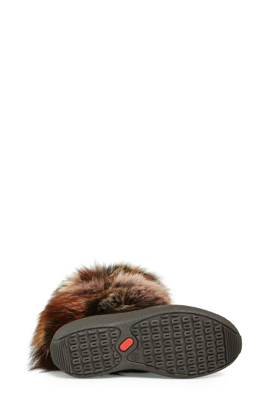 'Fox Trot' Genuine Fox Fur & Calf Hair Boot,                             Alternate thumbnail 4, color,