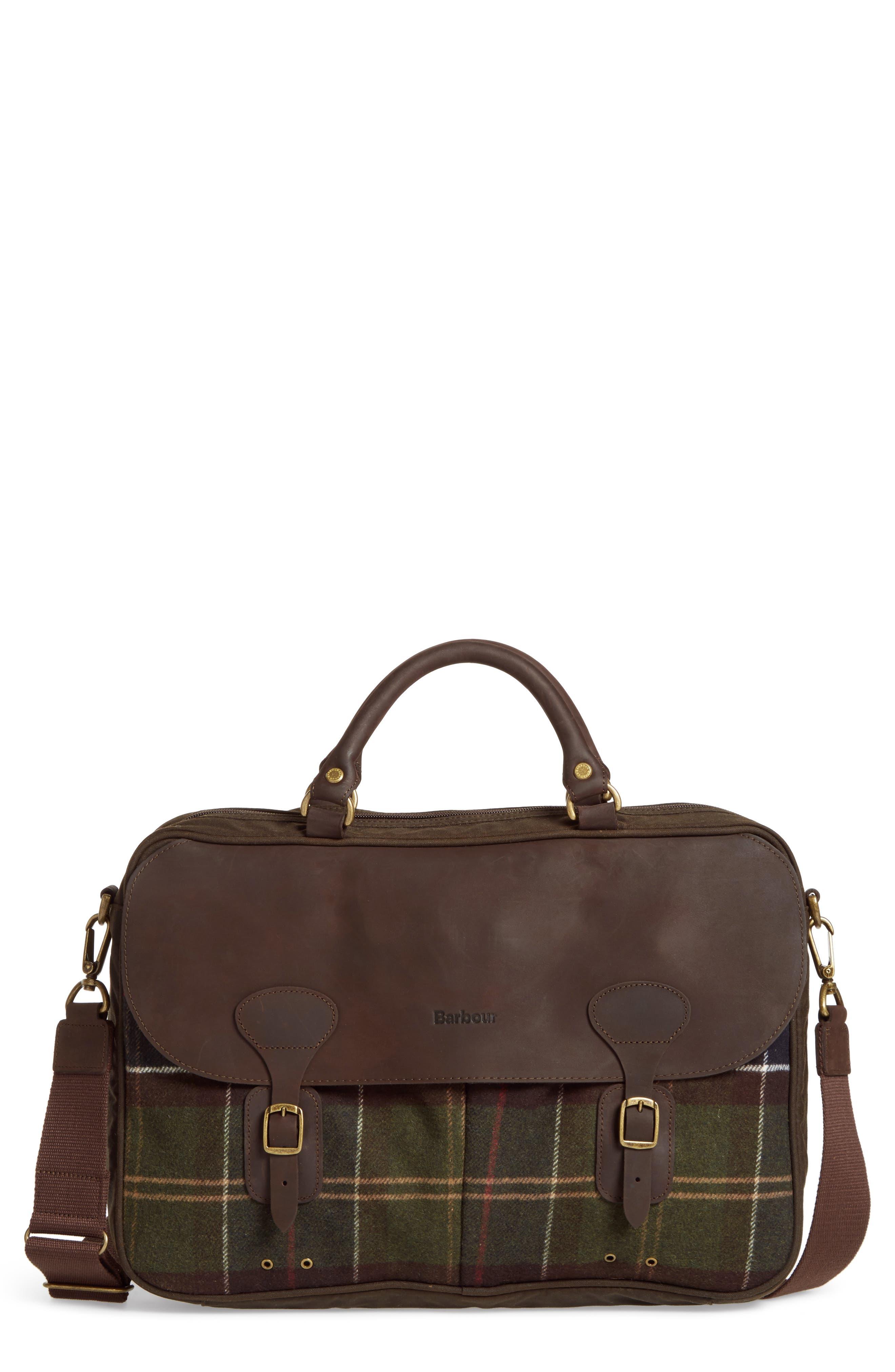 Tartan Briefcase,                         Main,                         color, 200