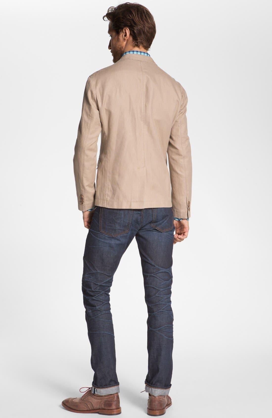 ASBURY PARK,                             '1888 Skinny Fit' Raw Selvedge Jeans,                             Alternate thumbnail 4, color,                             401