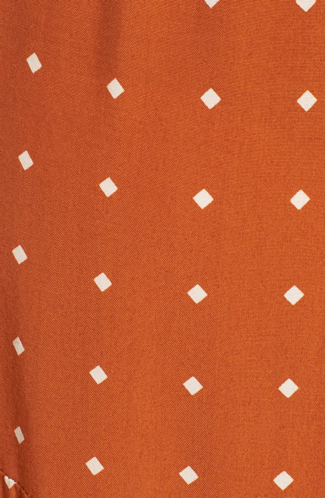 FAITHFULL THE BRAND,                             Kamares Polka Dot Midi Skirt,                             Alternate thumbnail 5, color,                             700