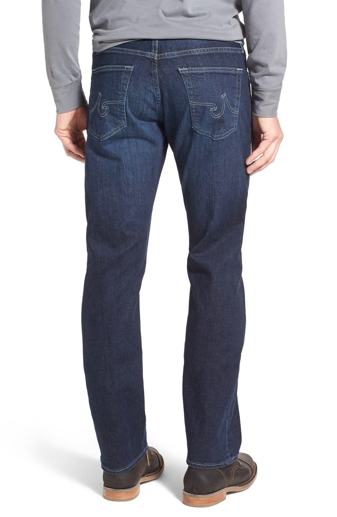 'Protégé' Straight Leg Jeans,                             Alternate thumbnail 4, color,                             402