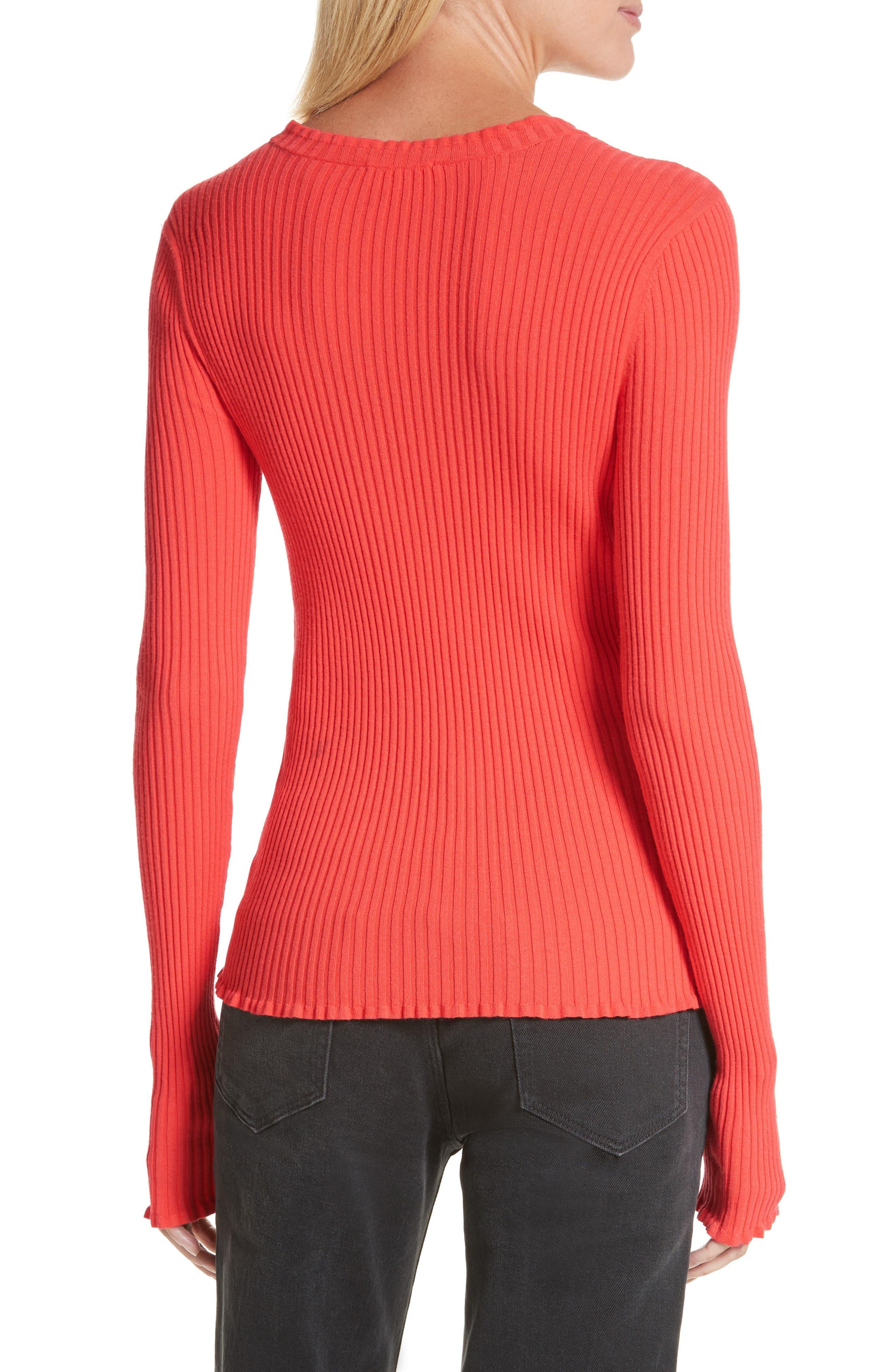 Rib Knit Scoop Neck Sweater,                             Alternate thumbnail 4, color,