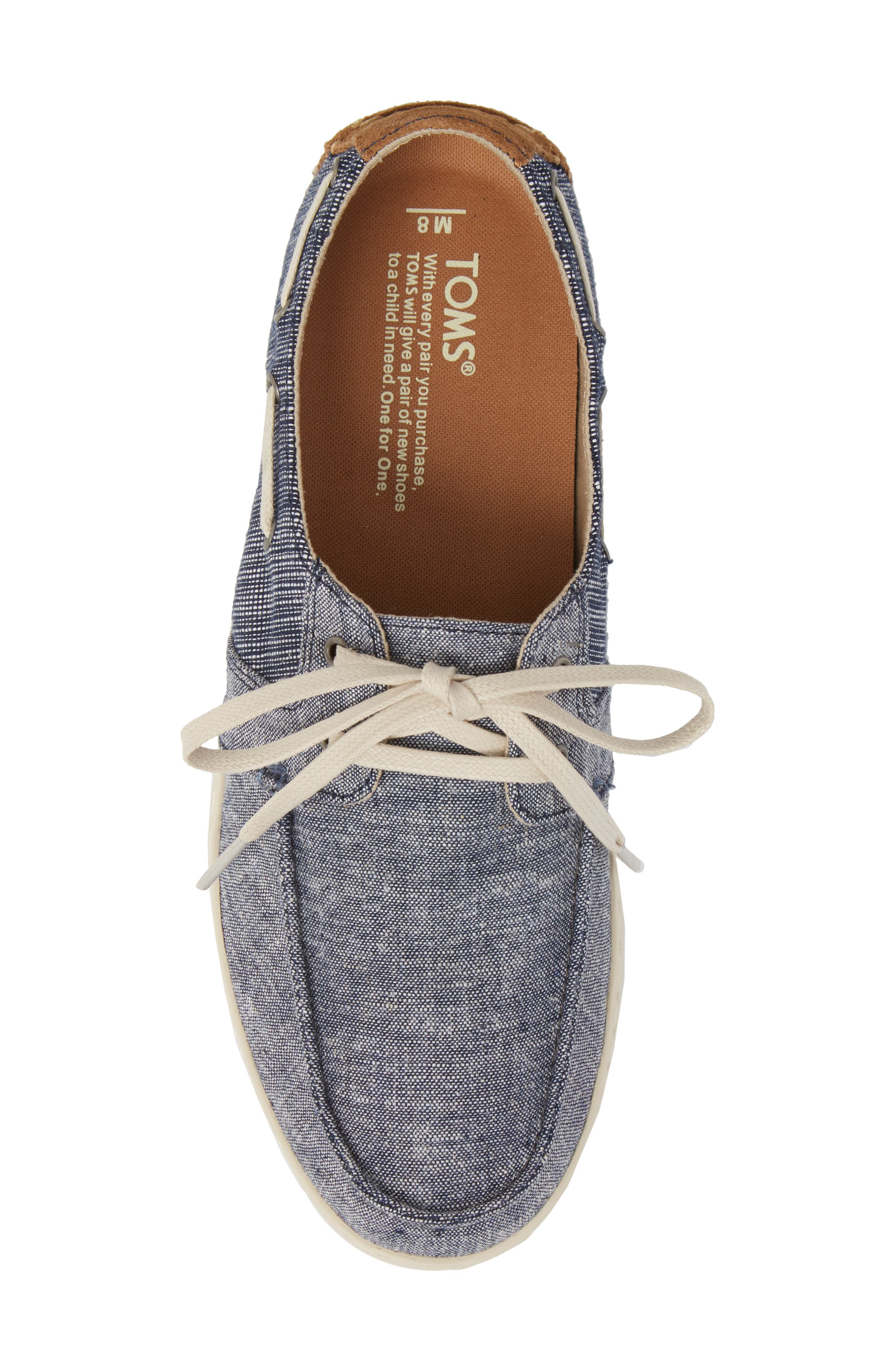 'Culver' Boat Shoe,                             Alternate thumbnail 5, color,                             CANVAS EMBROIDERED WHALE