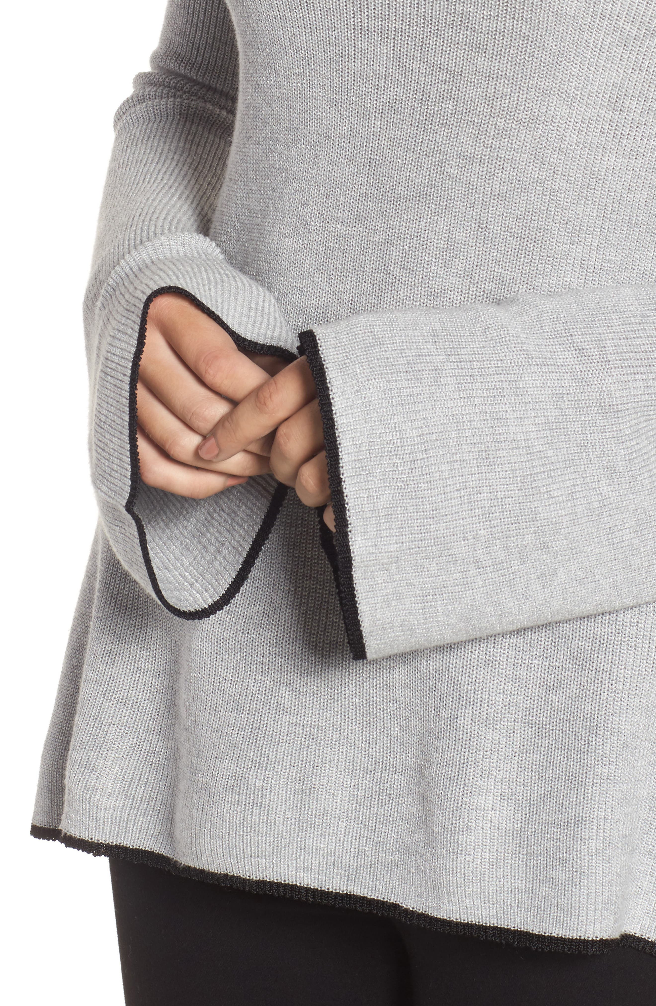 Tipped Bell Sleeve Sweater,                             Alternate thumbnail 24, color,