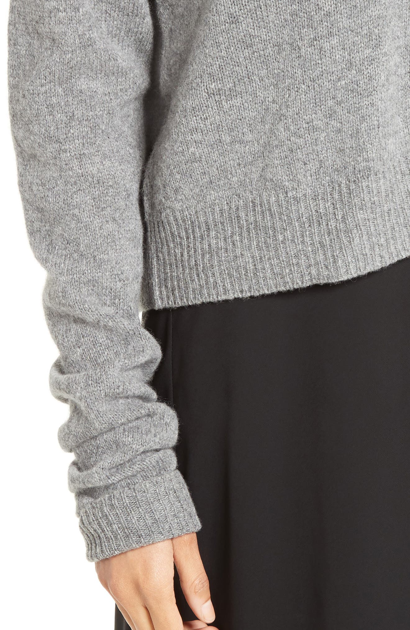 Wool & Cashmere Cutout Sweater,                             Alternate thumbnail 4, color,                             061