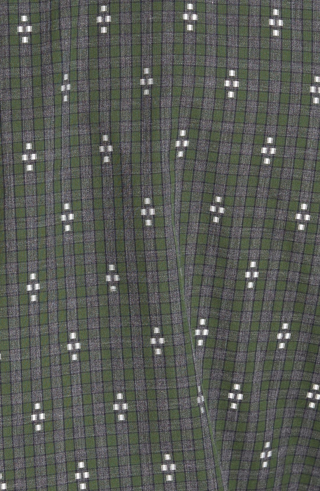 'Maxwell' Jacquard Check Sport Shirt,                             Alternate thumbnail 4, color,                             020