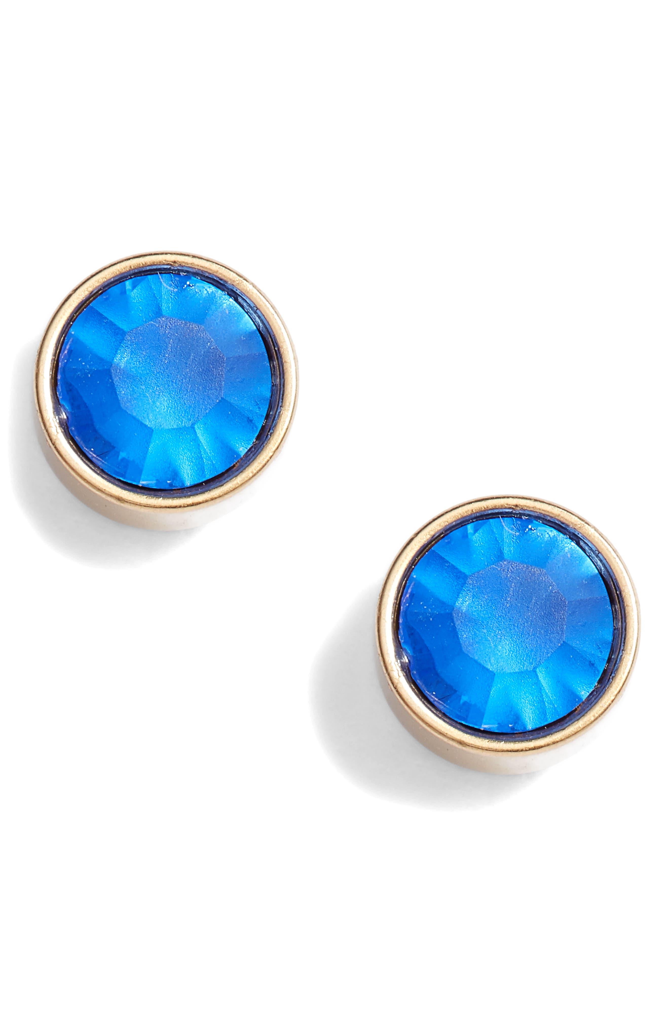 Bezel Set Stud Earrings,                             Main thumbnail 8, color,