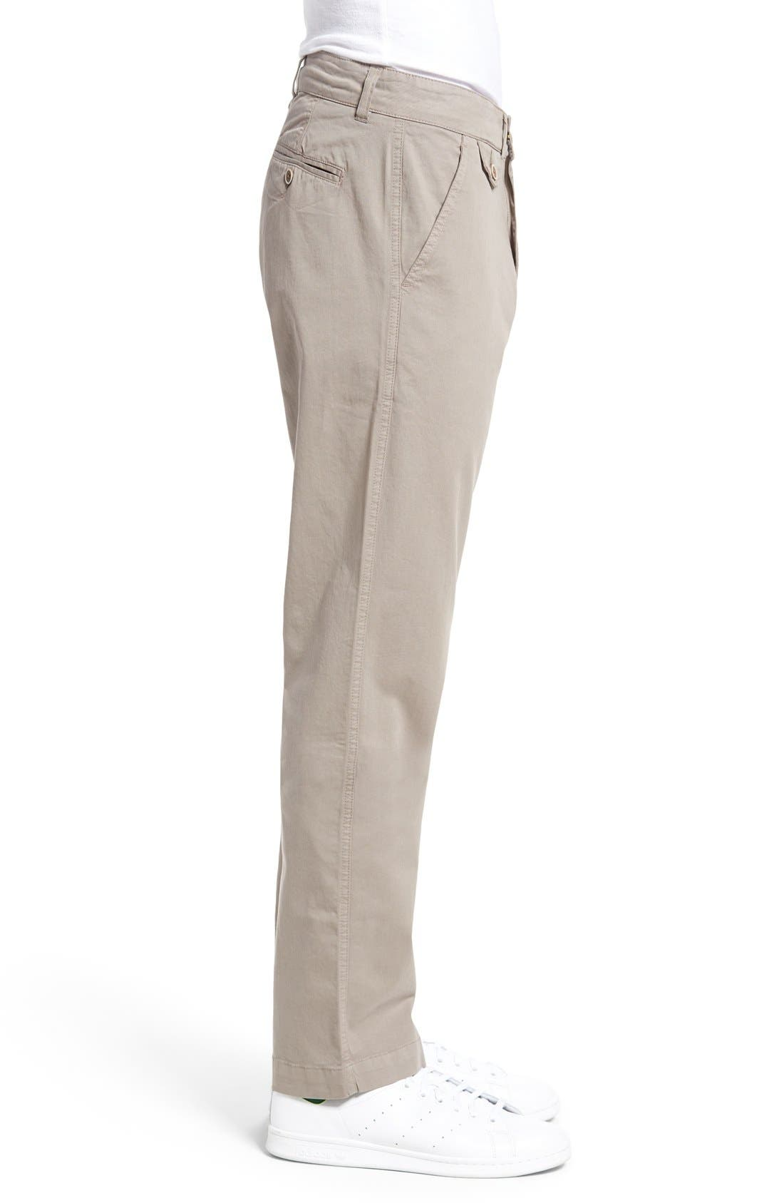 Sunny Modern Fit Stretch Twill Chinos,                             Alternate thumbnail 3, color,                             DUSTY SILVER