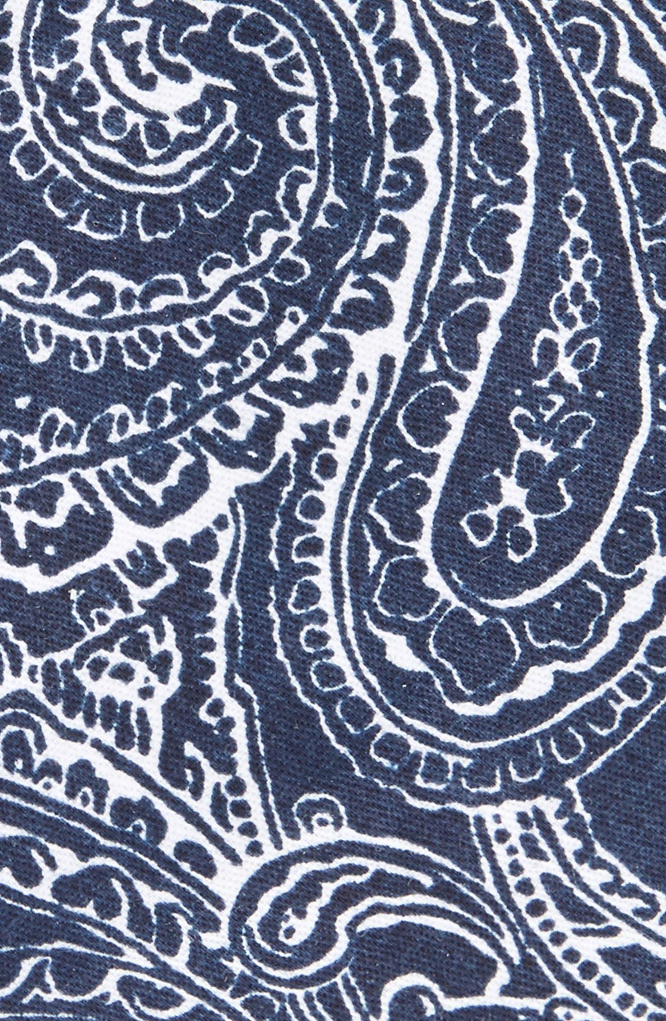 Lee Paisley Cotton Tie,                             Alternate thumbnail 5, color,