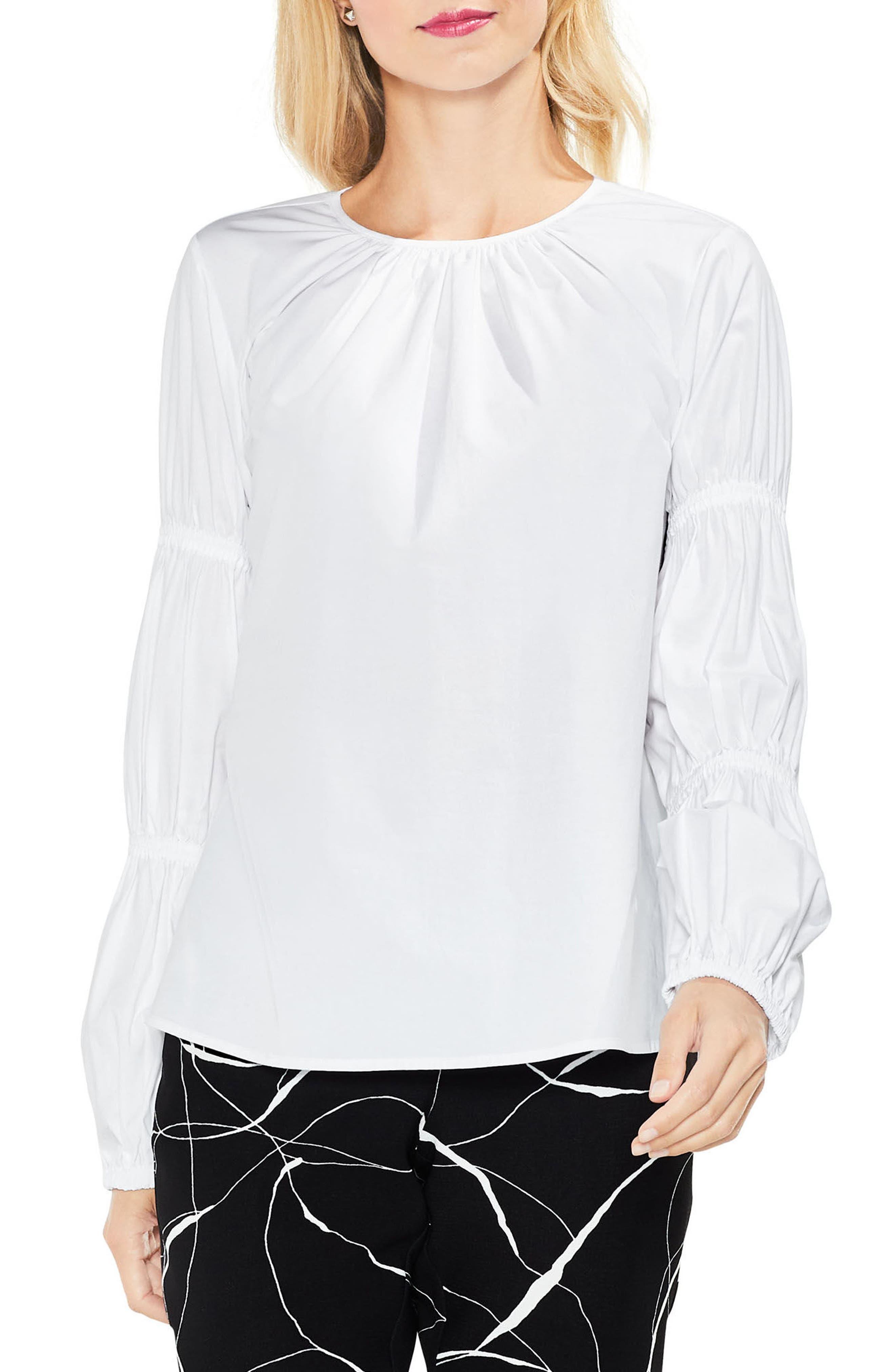 Smocked Poplin Shirt,                         Main,                         color, 145
