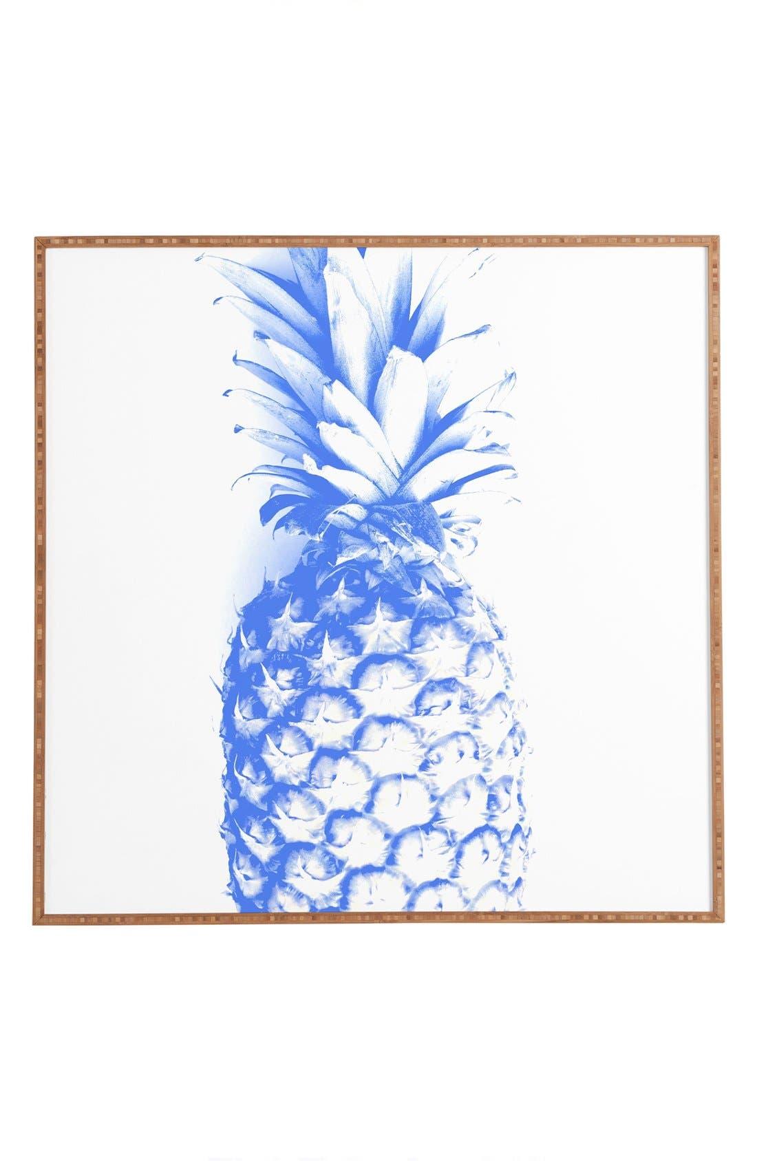 'Pineapple' Framed Wall Art,                             Main thumbnail 1, color,                             400