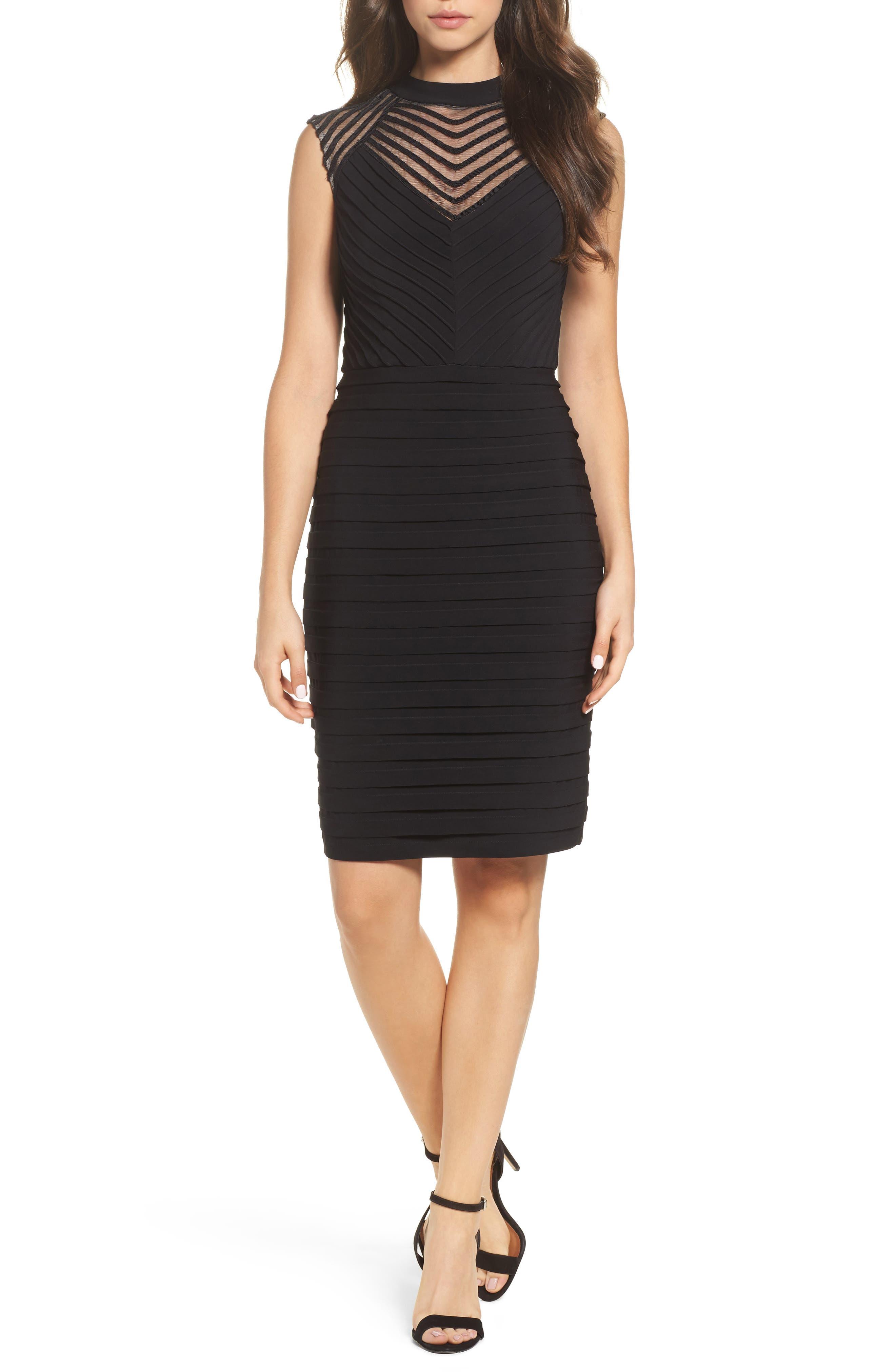 Banded Sheath Dress,                             Main thumbnail 1, color,                             002
