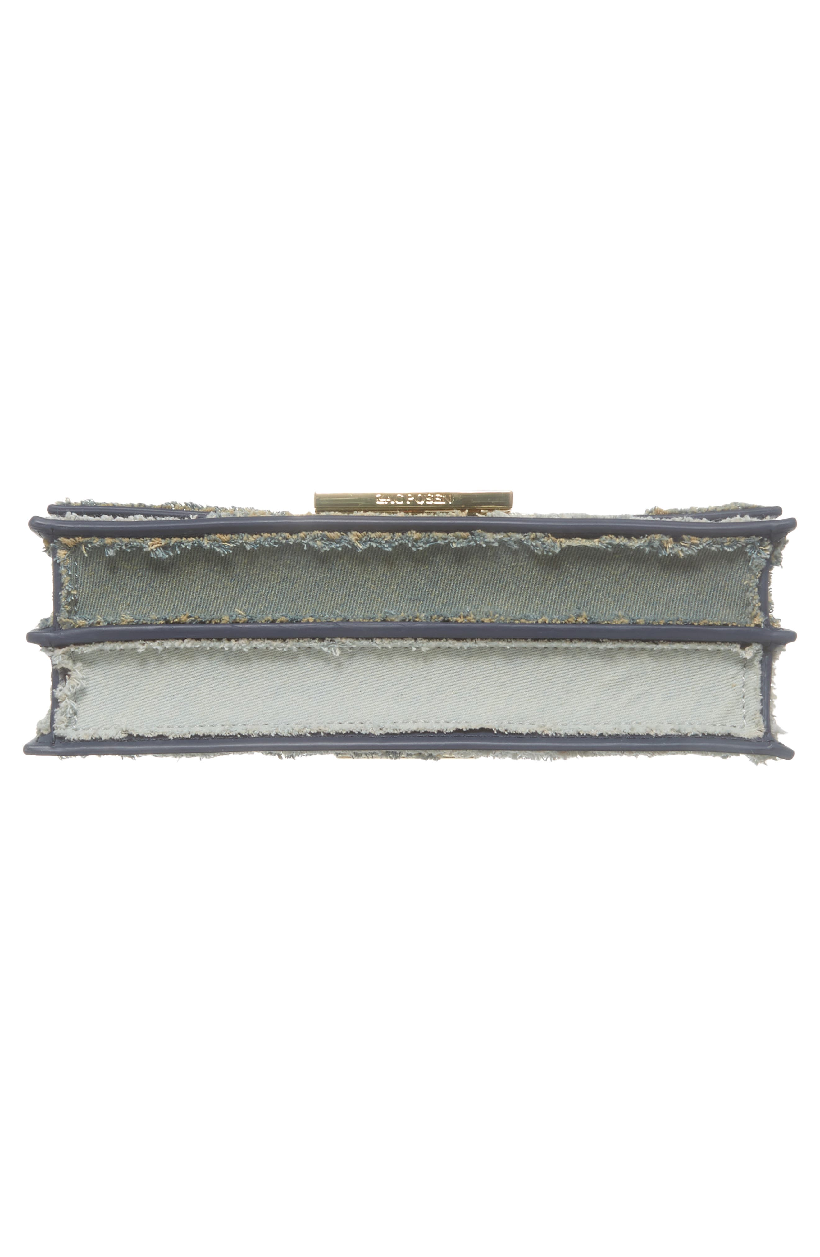 Earthette Patchwork Denim Accordion Bag,                             Alternate thumbnail 6, color,