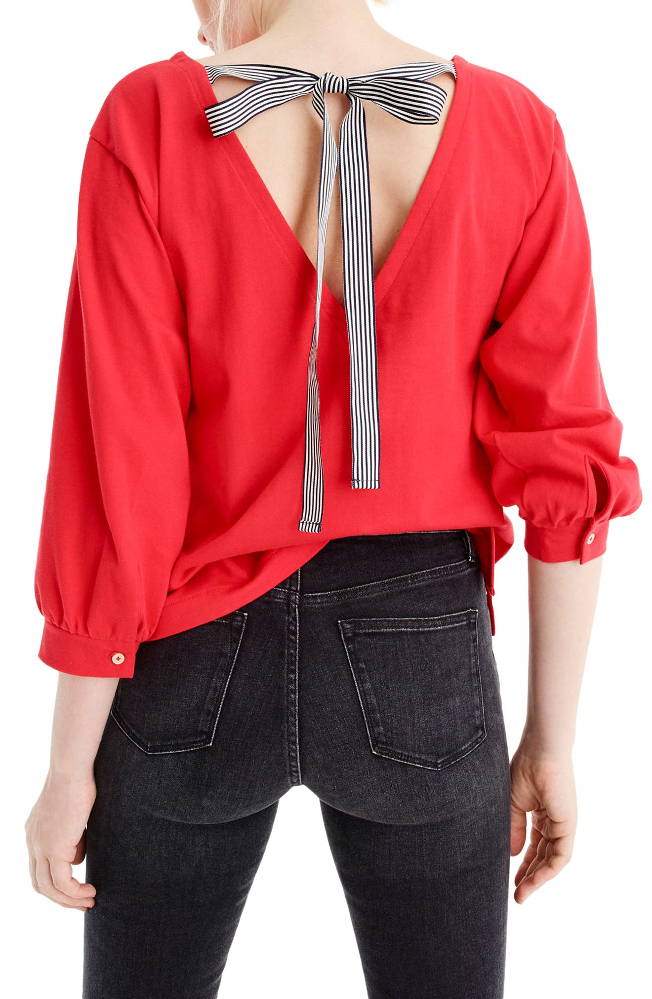 Tie Back Top,                             Alternate thumbnail 3, color,