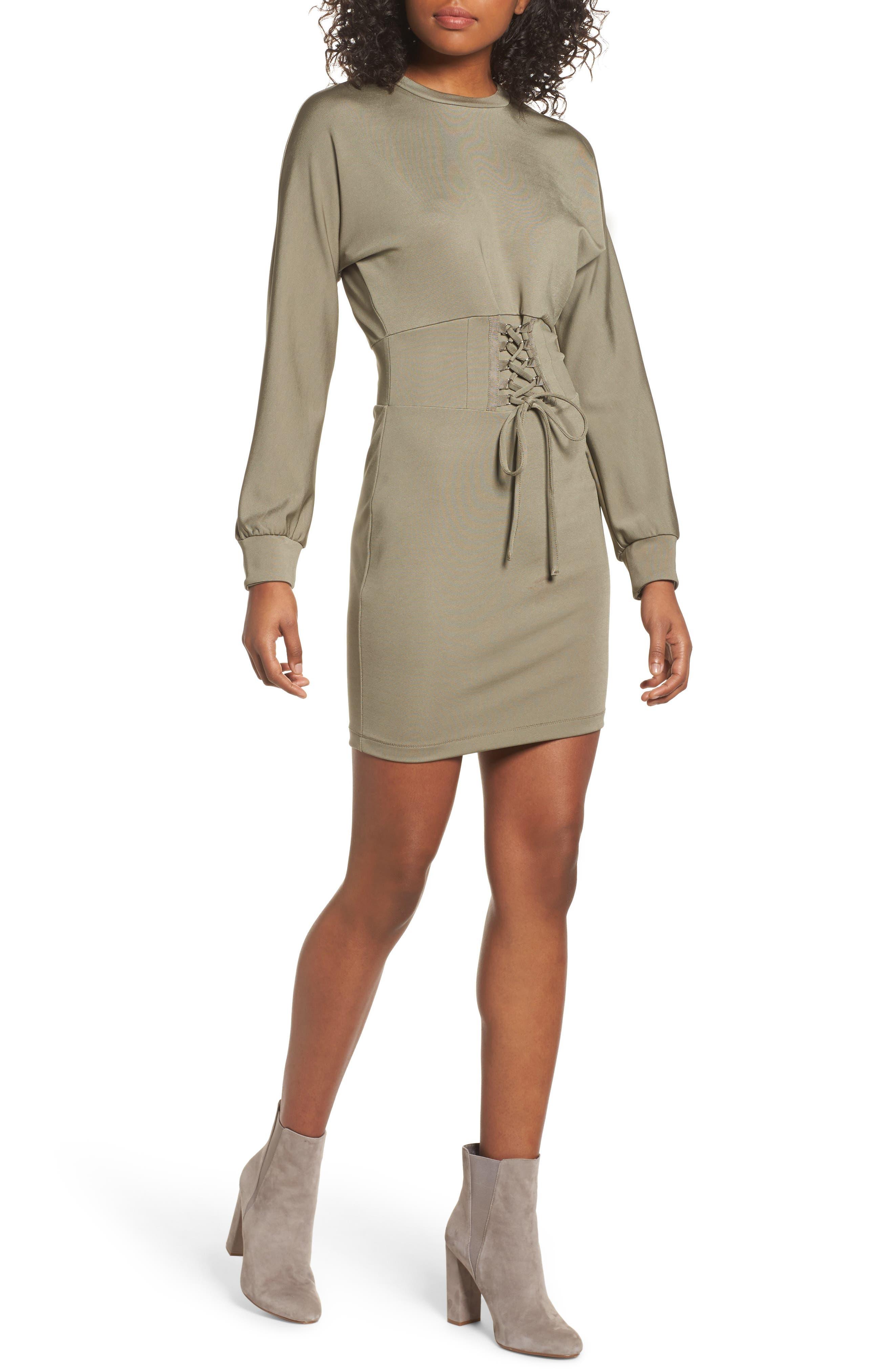 Mila Corset Body-Con Dress,                         Main,                         color,