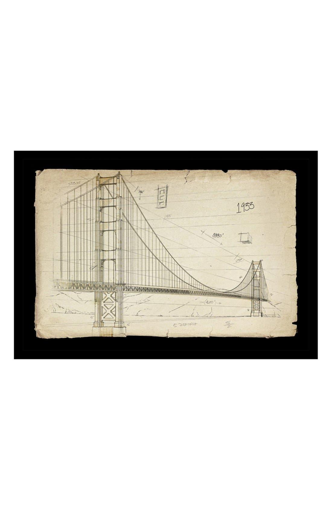 'Golden Gate Bridge 1933' Framed Art Print,                             Main thumbnail 1, color,                             100
