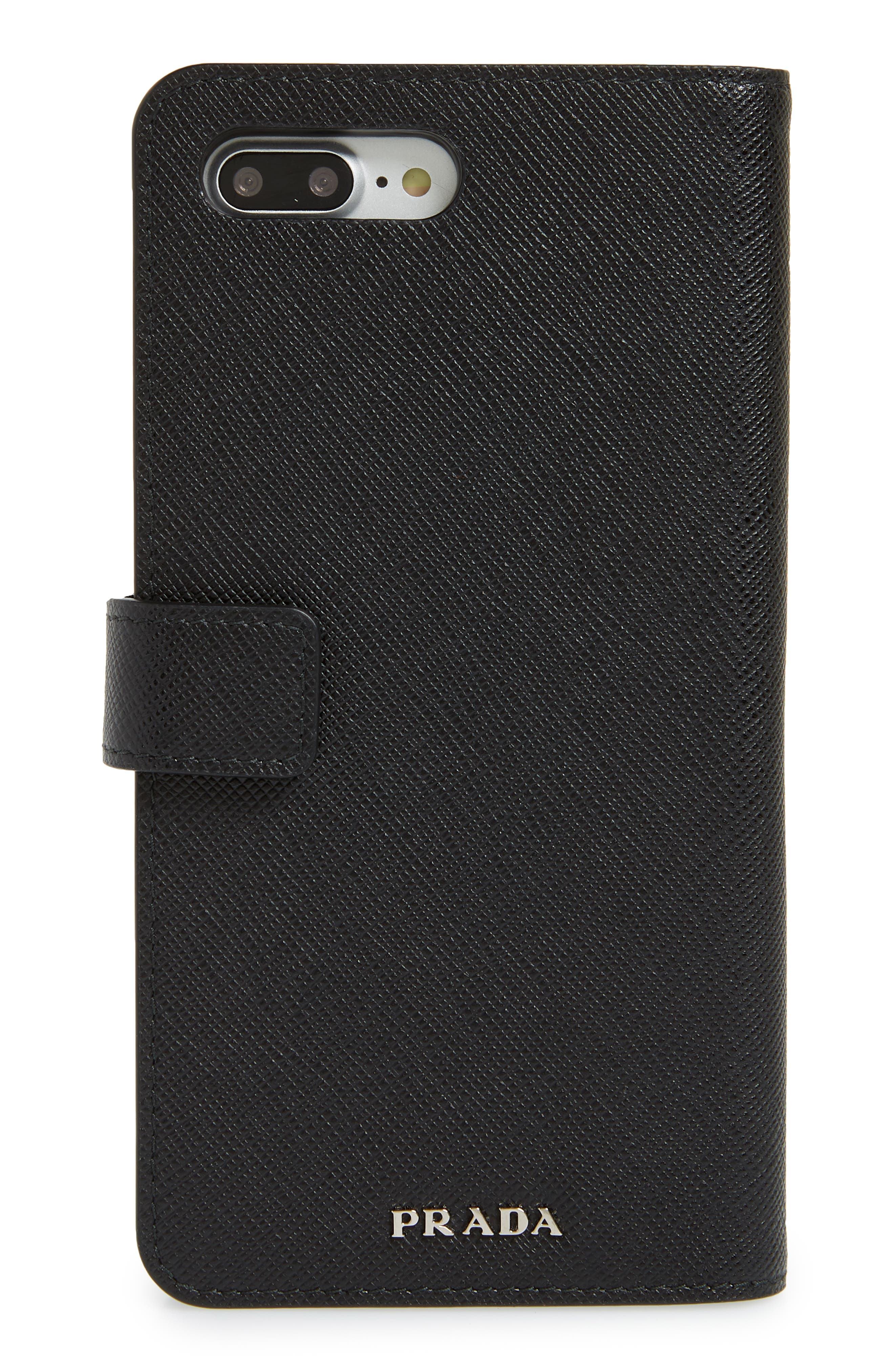 Saffiano iPhone 8 Wallet,                             Alternate thumbnail 3, color,                             001