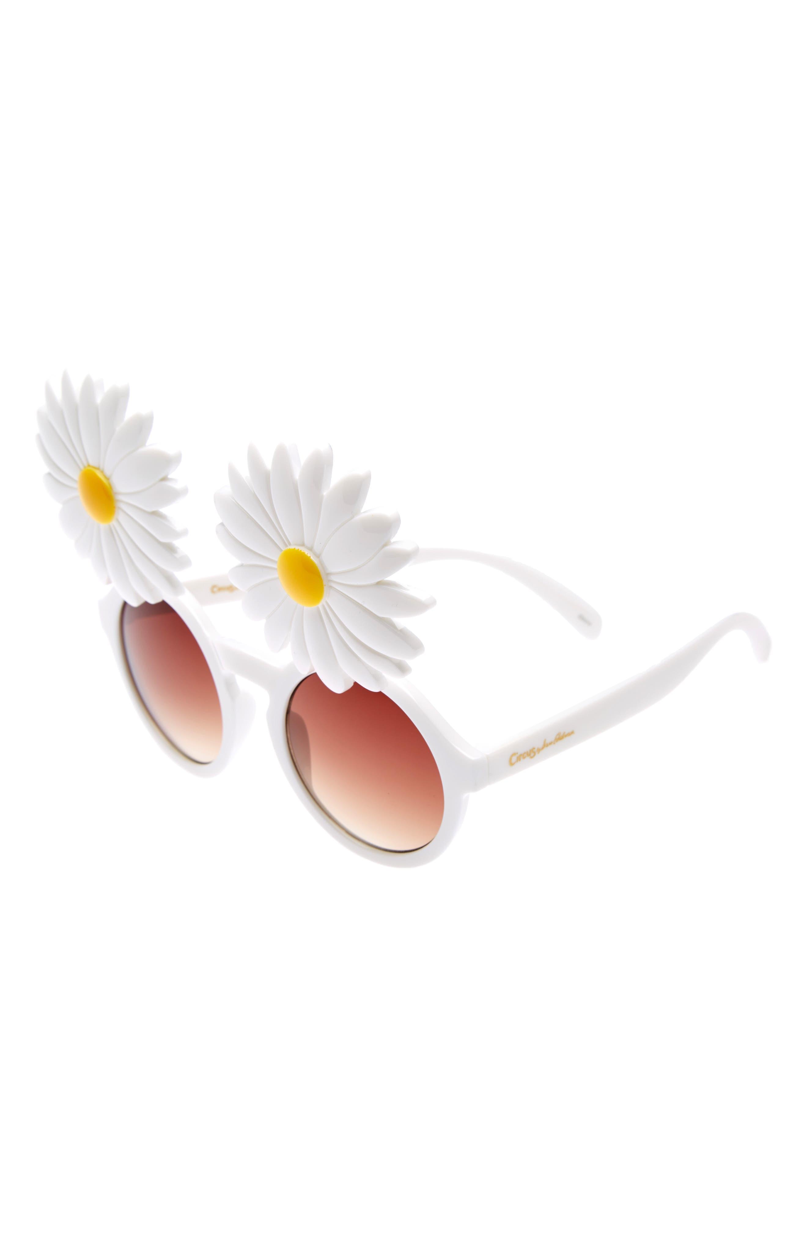 Daisy 45mm Round Sunglasses,                             Alternate thumbnail 4, color,                             100