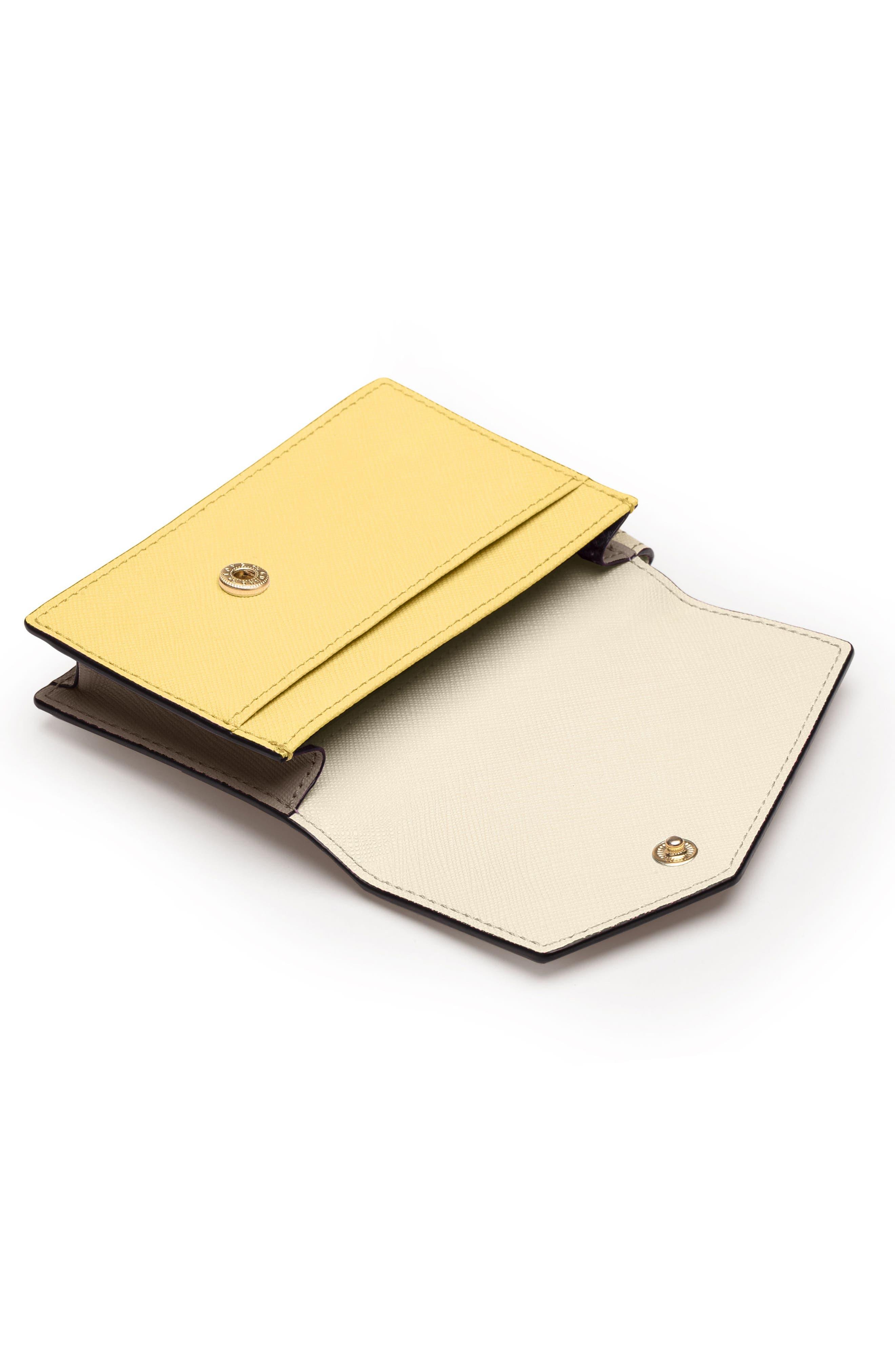 Cobble Hill Saffiano Leather Card Case,                             Alternate thumbnail 2, color,                             CREAM COLORBLOCK