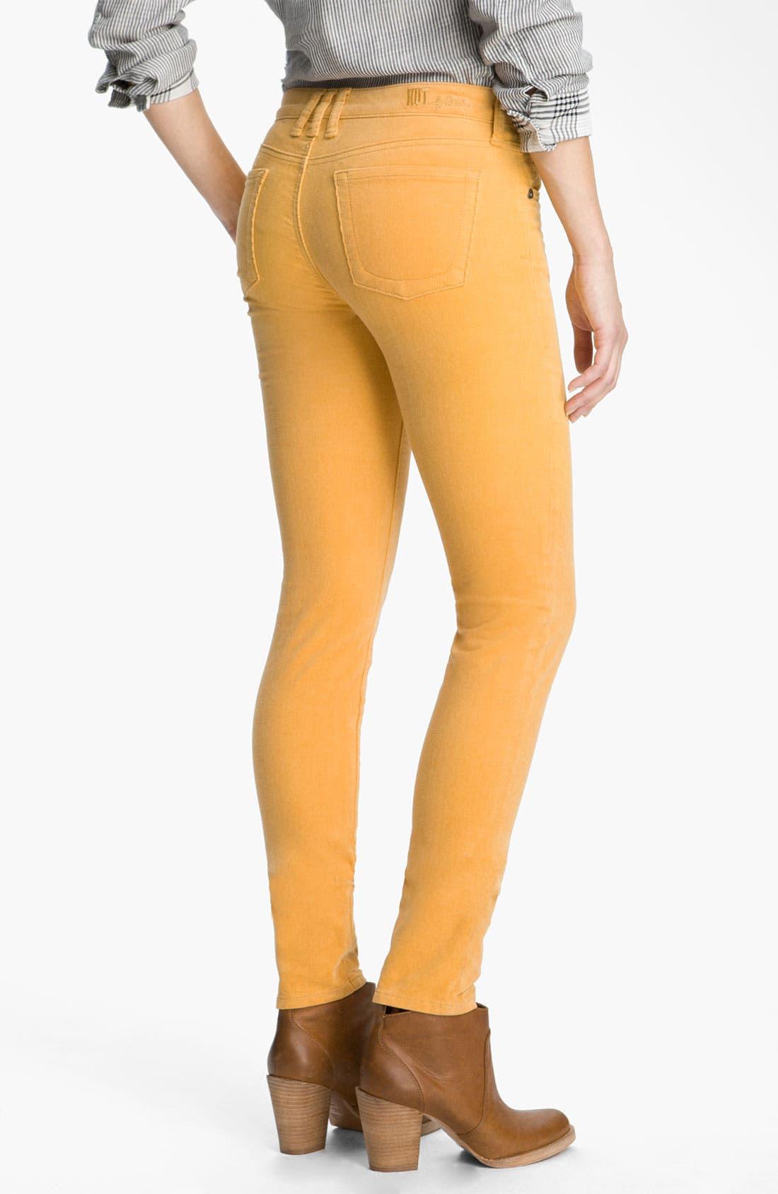 'Diana' Stretch Corduroy Skinny Pants,                             Alternate thumbnail 151, color,