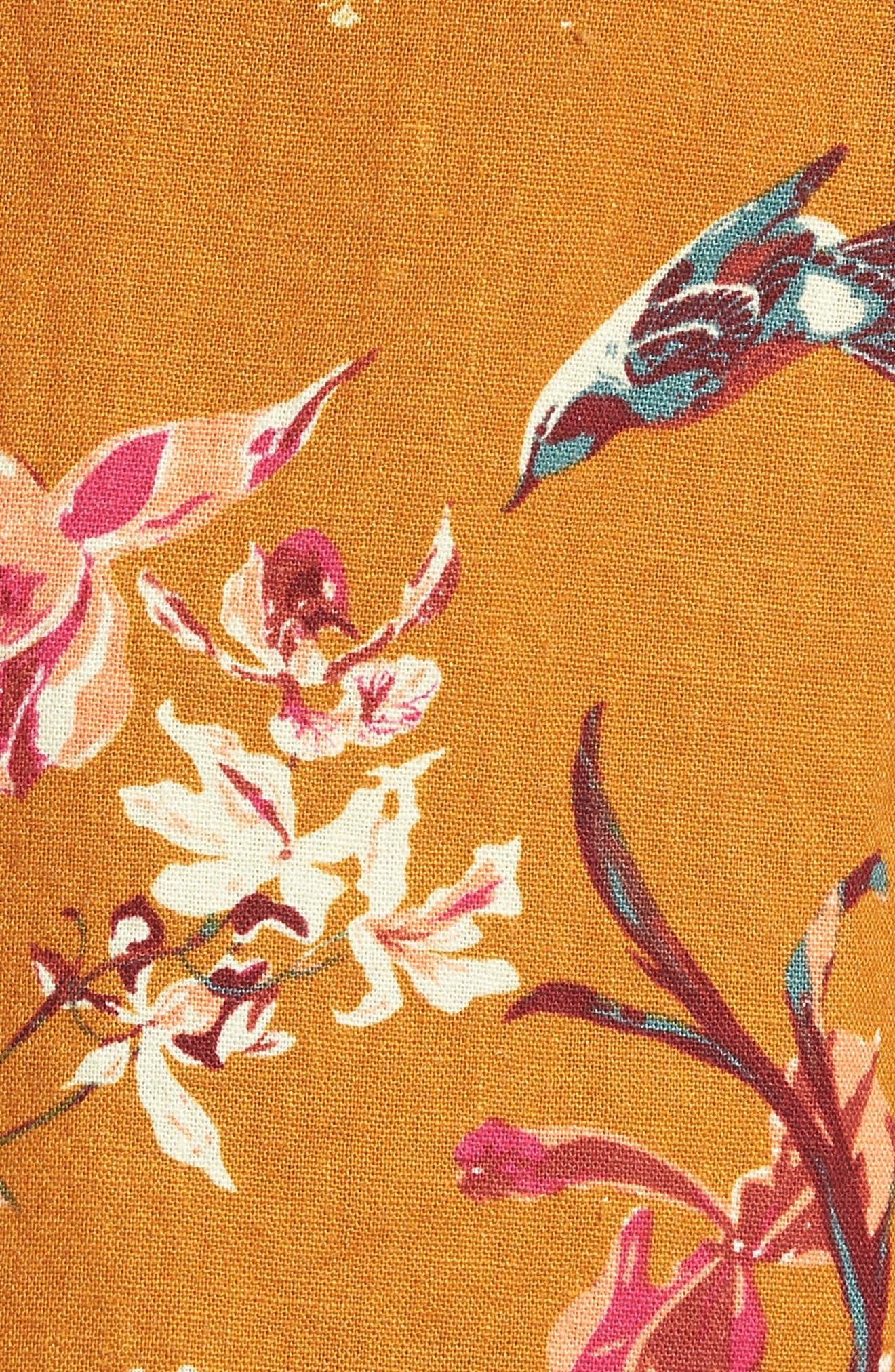 Print Linen Blend Shorts,                             Alternate thumbnail 5, color,                             720