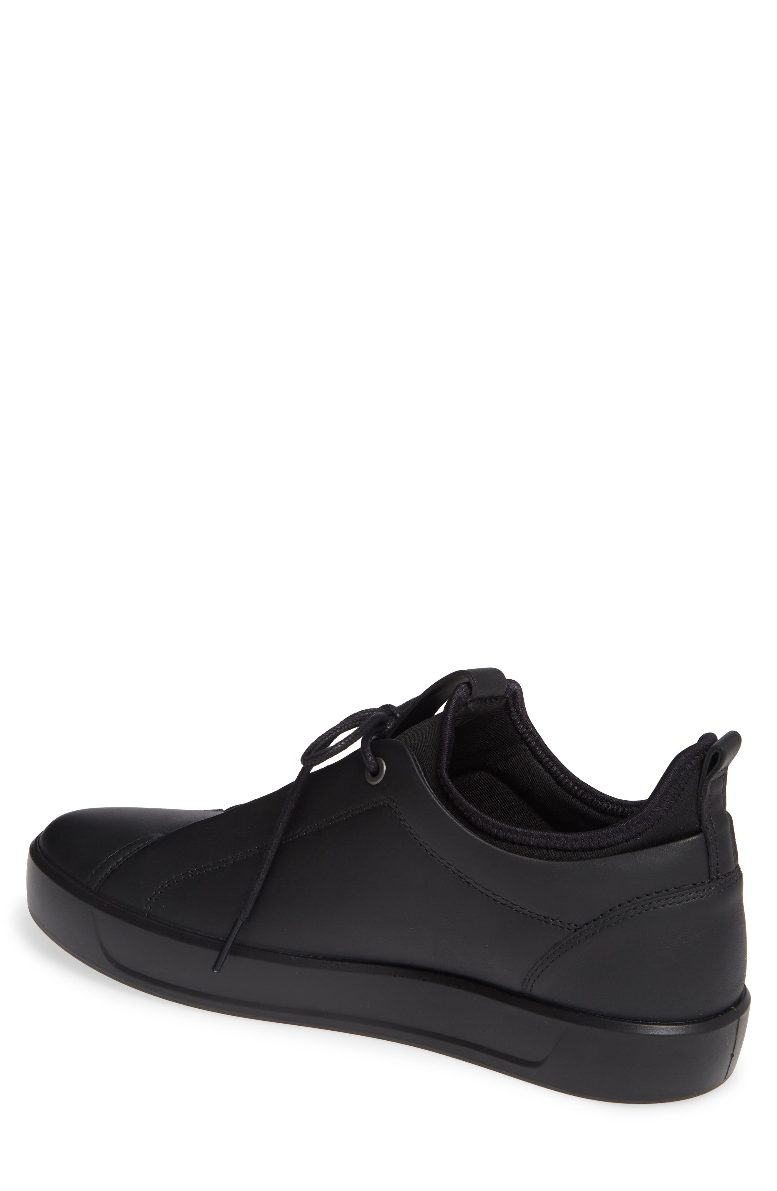 Soft 8 Low Top Sneaker,                             Alternate thumbnail 2, color,                             BLACK LEATHER