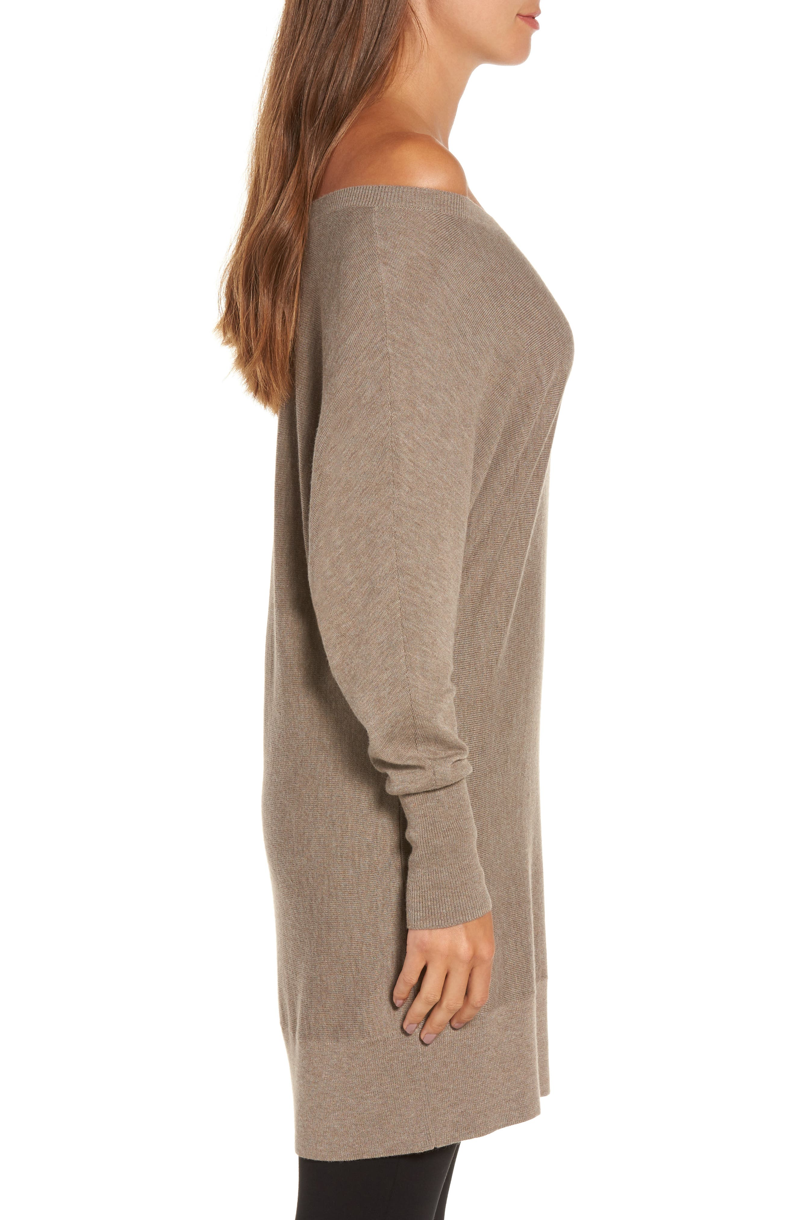 Off the Shoulder Sweater Tunic,                             Alternate thumbnail 16, color,