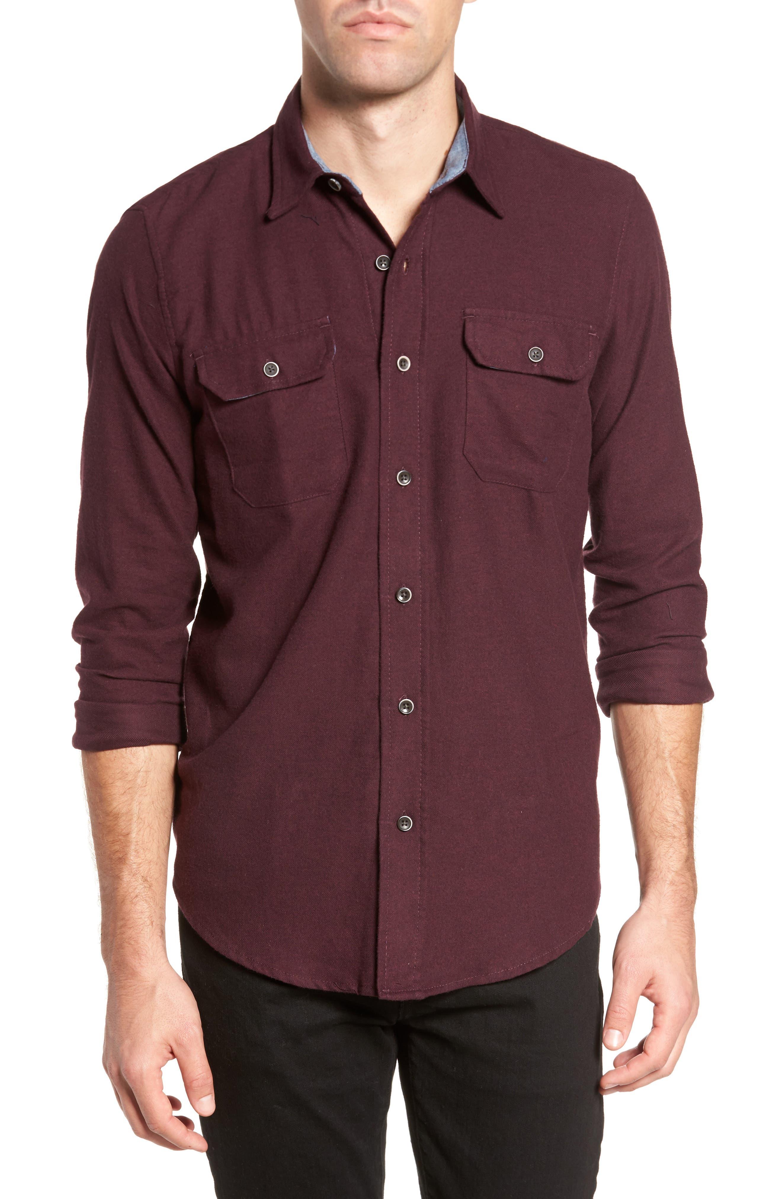 Heather Flannel Shirt,                             Main thumbnail 2, color,