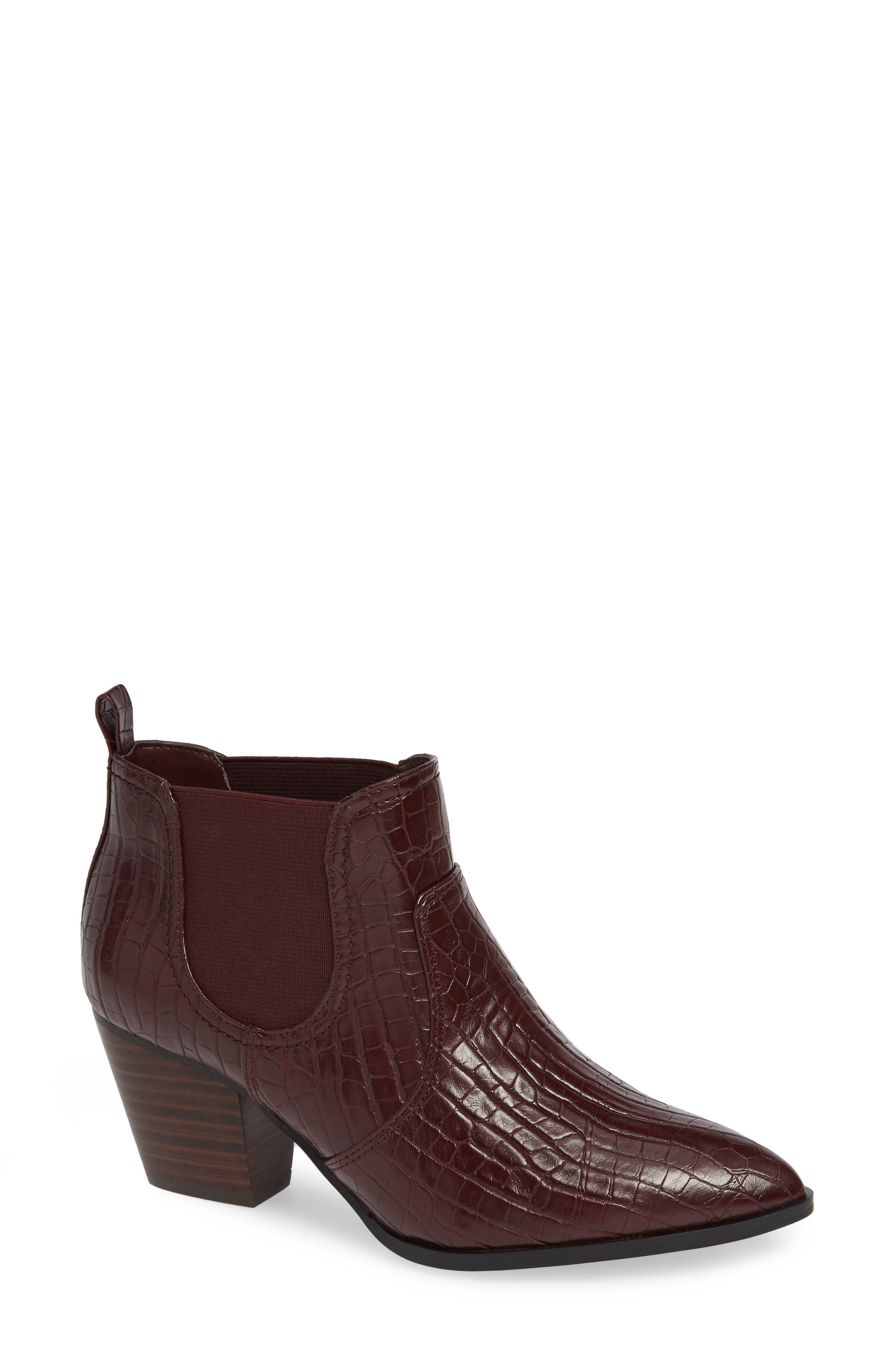 Emerson II Chelsea Bootie,                             Main thumbnail 1, color,                             BURGUNDY