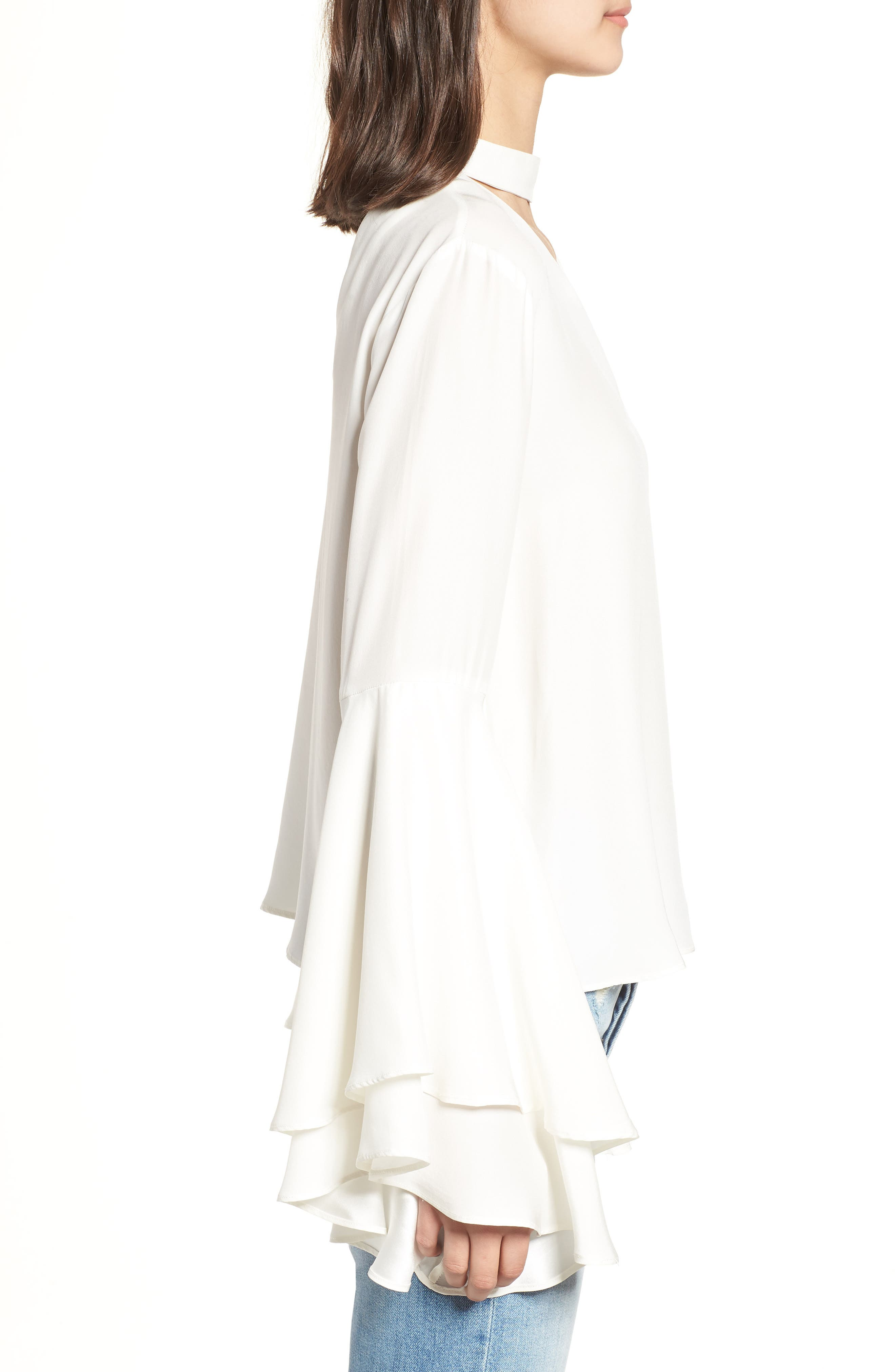 Bell Sleeve Top,                             Alternate thumbnail 3, color,                             908