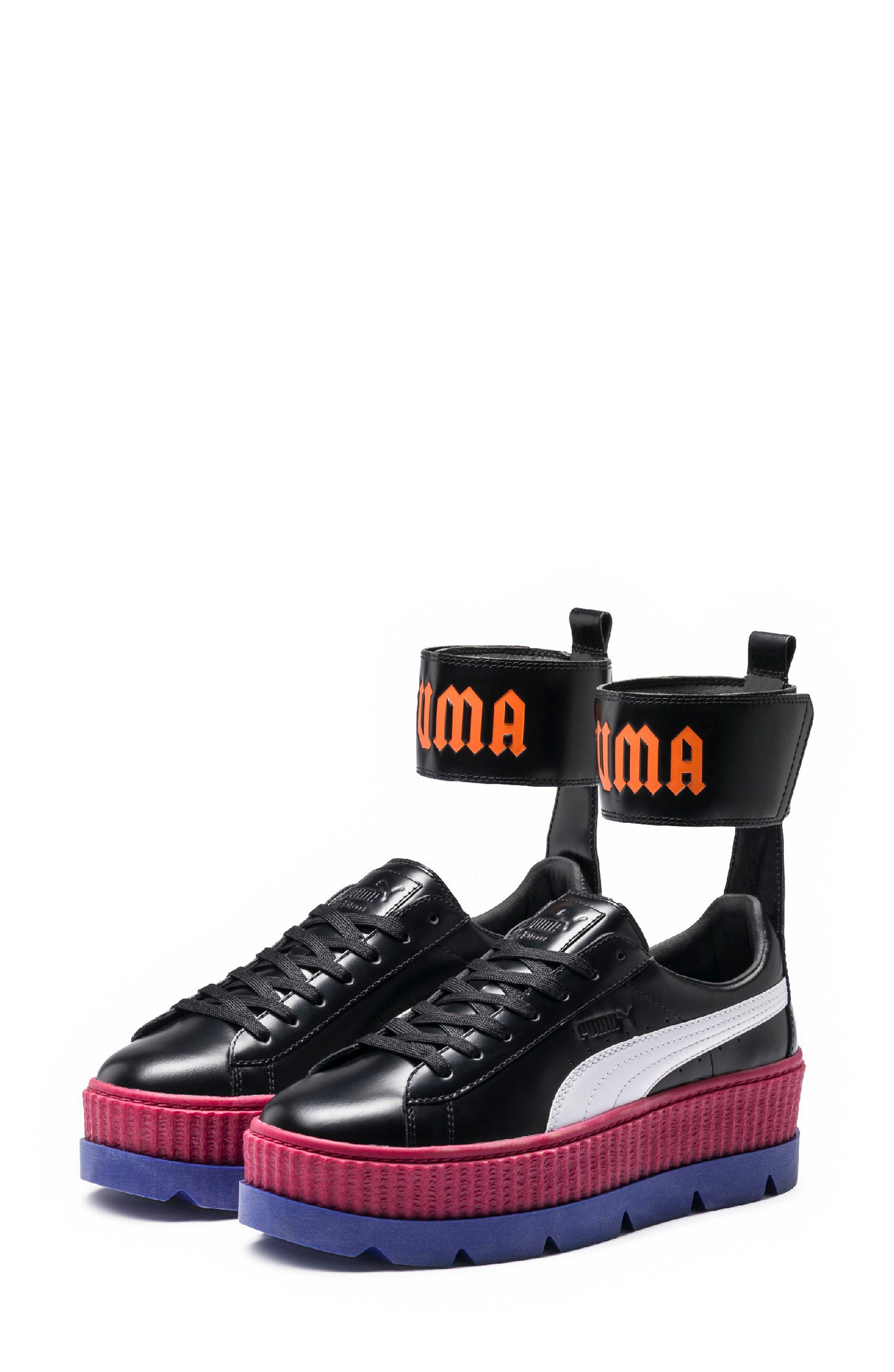 FENTY PUMA by Rihanna Ankle Strap Creeper Sneaker,                             Alternate thumbnail 2, color,                             001