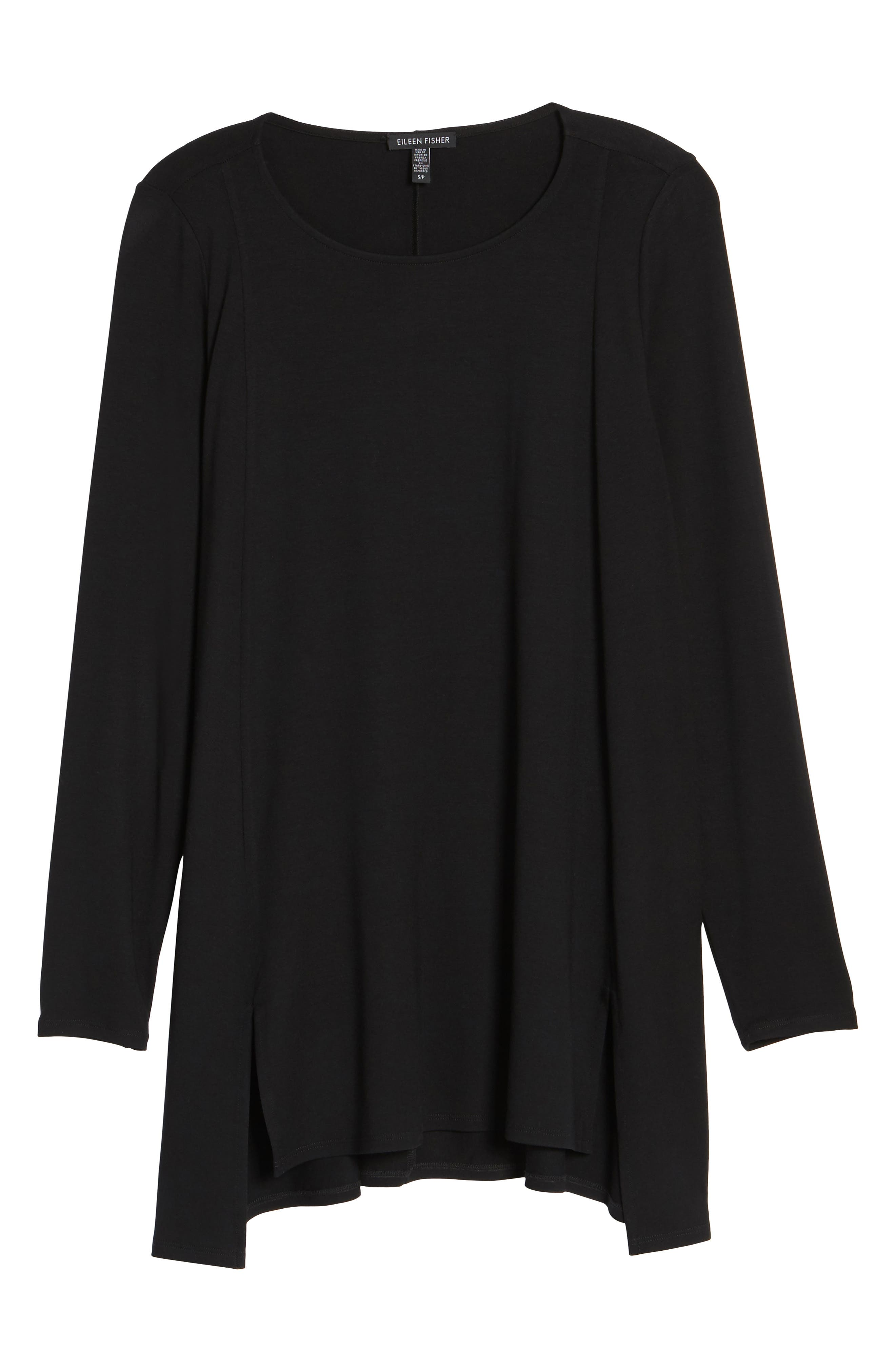 Scoop Neck Tunic,                             Alternate thumbnail 6, color,                             001