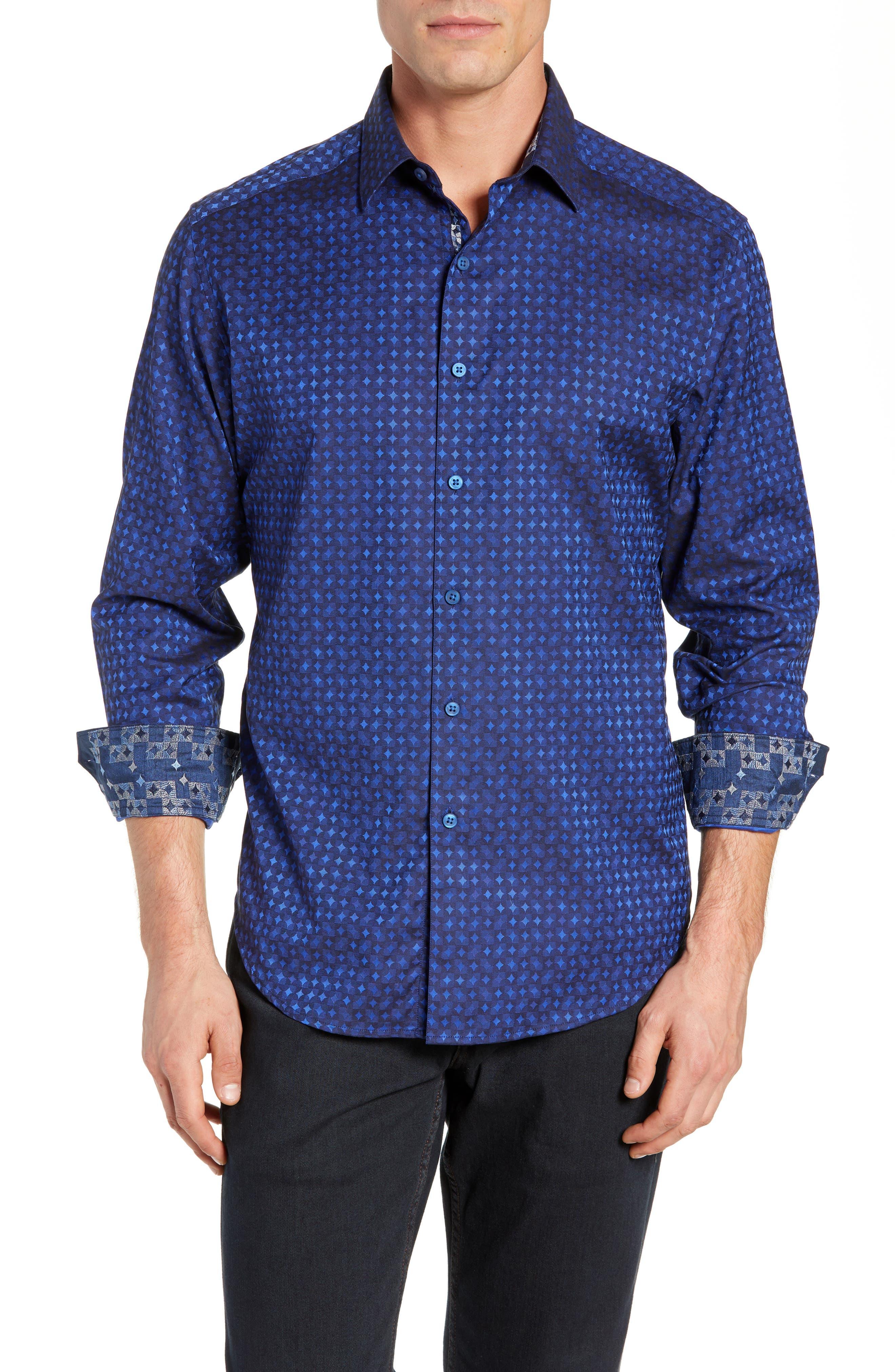 Harris Classic Fit Sport Shirt,                             Main thumbnail 1, color,                             BLUE