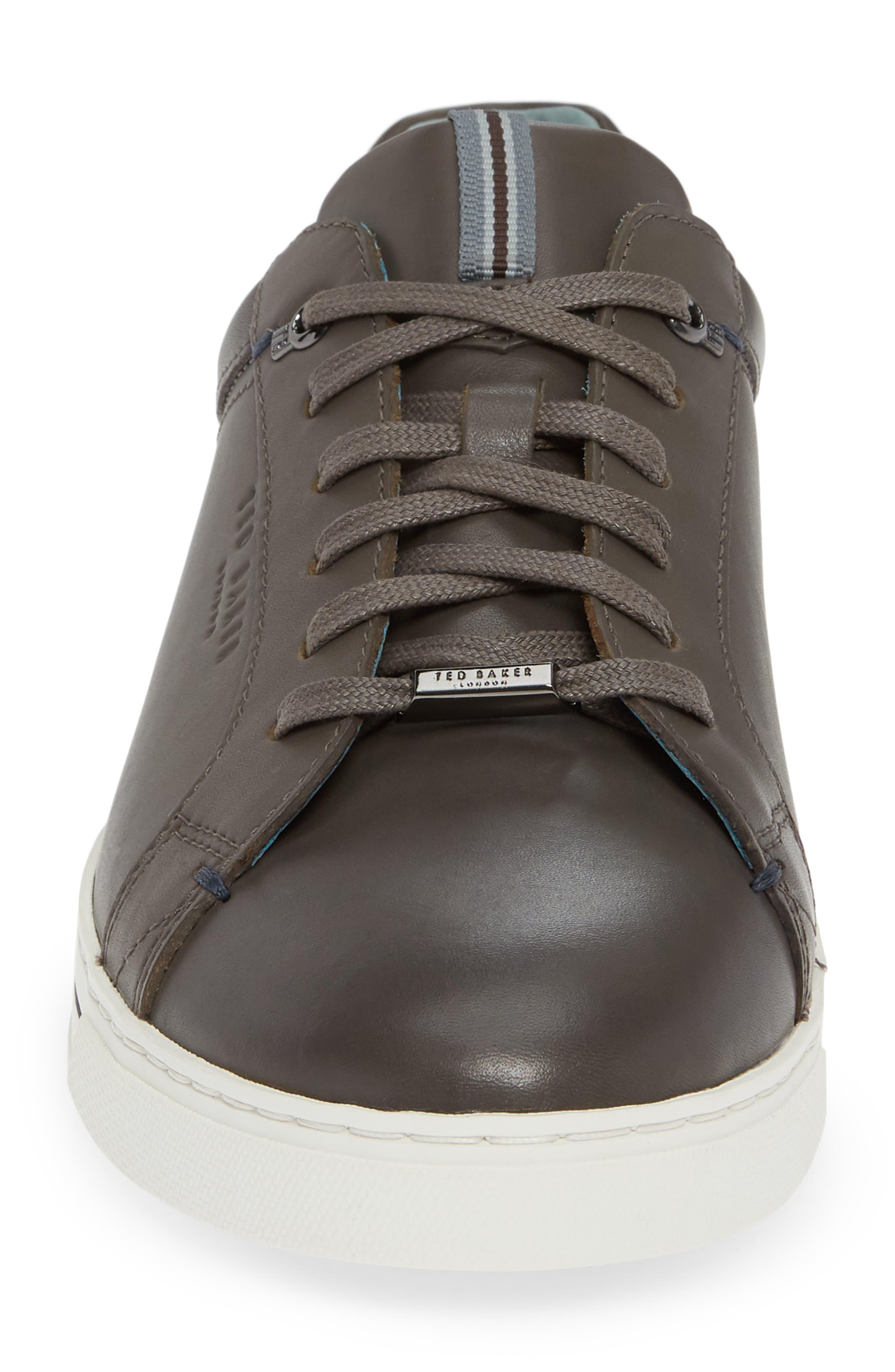 Thawne Sneaker,                             Alternate thumbnail 4, color,                             DARK GREY LEATHER