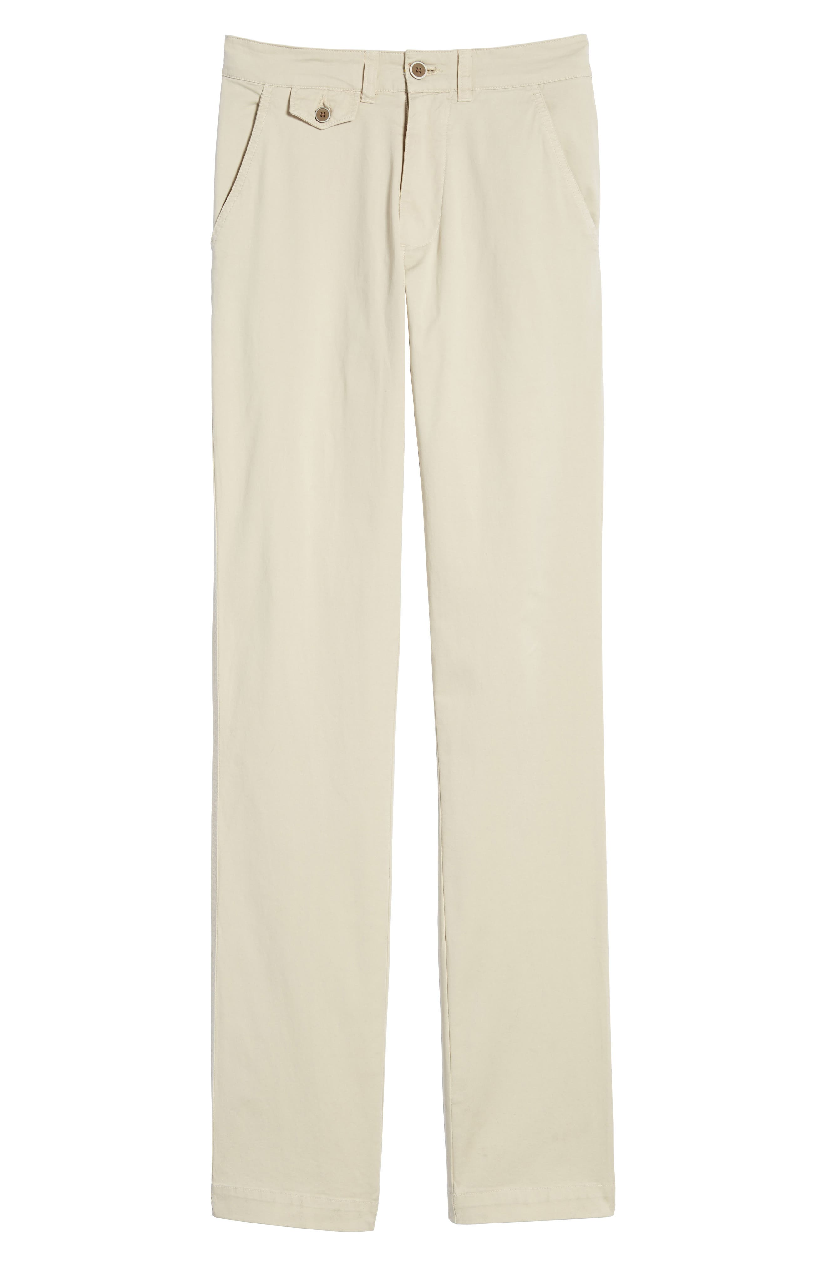 Sunny Modern Fit Stretch Twill Chinos,                             Alternate thumbnail 6, color,                             STONE